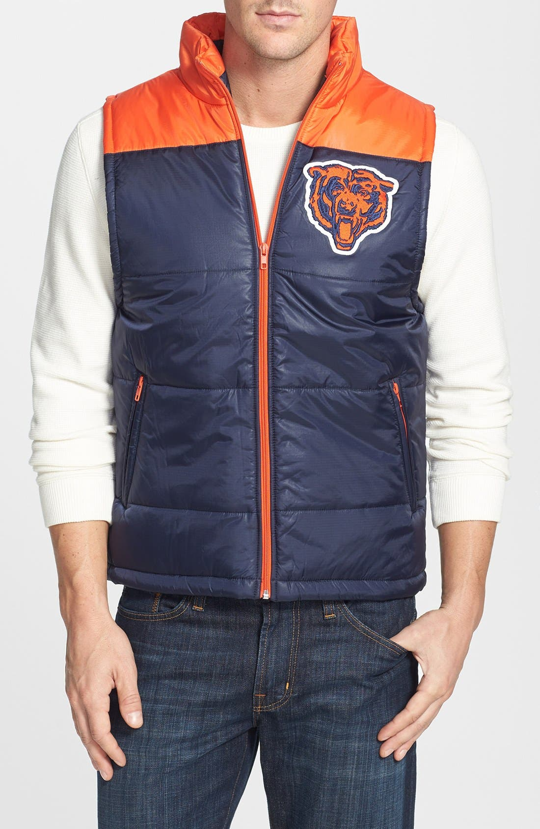 Main Image - Mitchell & Ness 'Winning Team - Chicago Bears' Quilted Vest