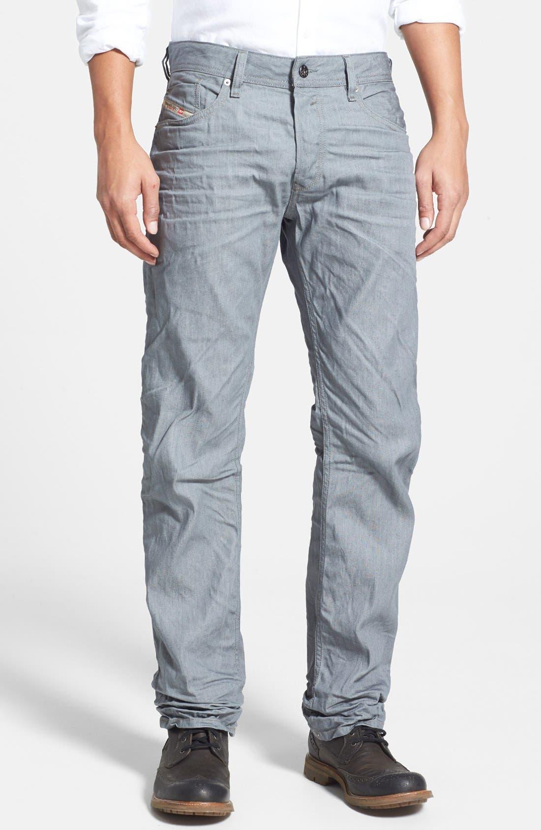 Alternate Image 1 Selected - DIESEL® 'Waykee' Straight Leg Jeans (824H)