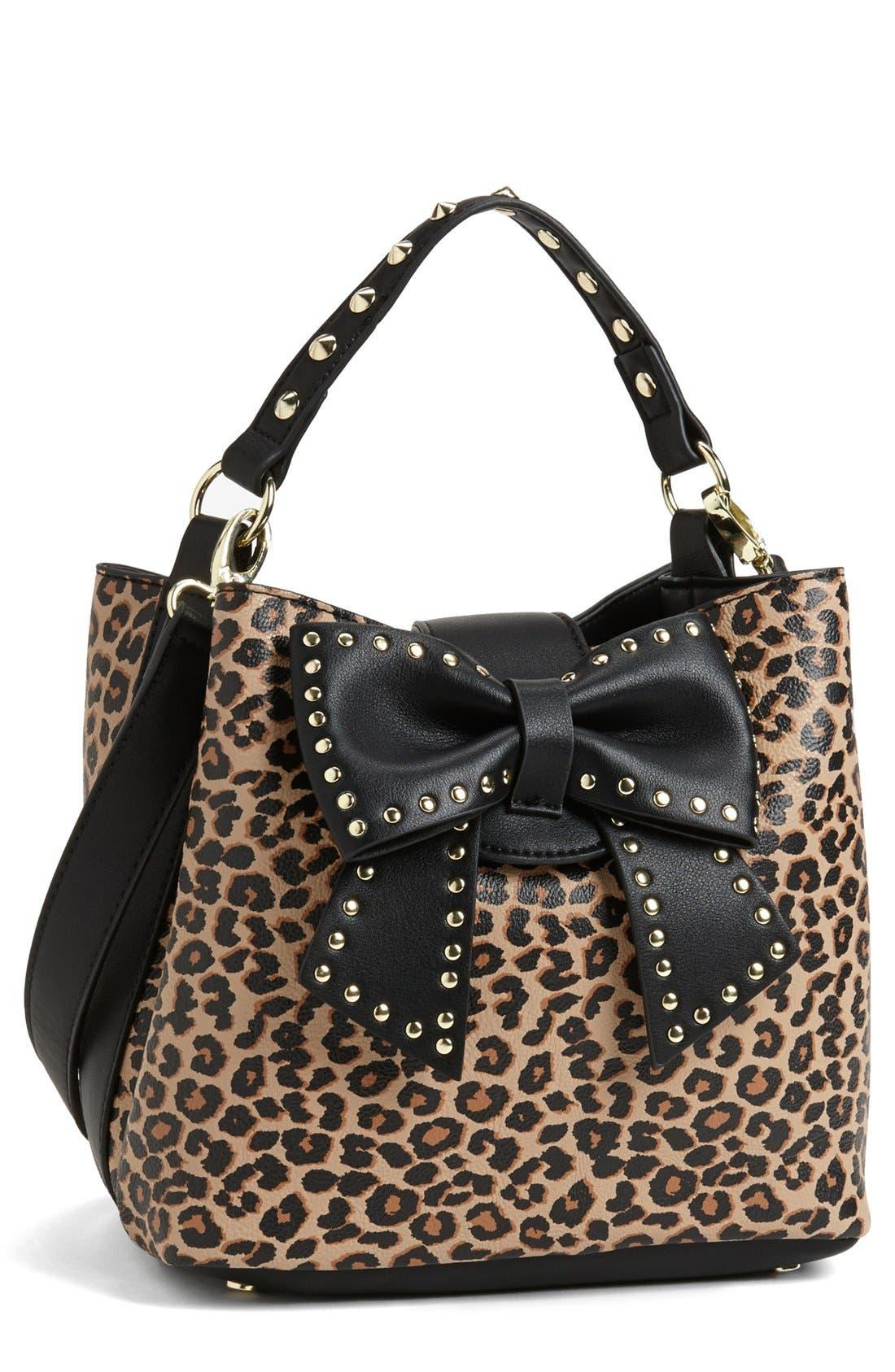 Alternate Image 1 Selected - Betsey Johnson 'Hopeless Romantic II' Faux Leather Bucket Bag