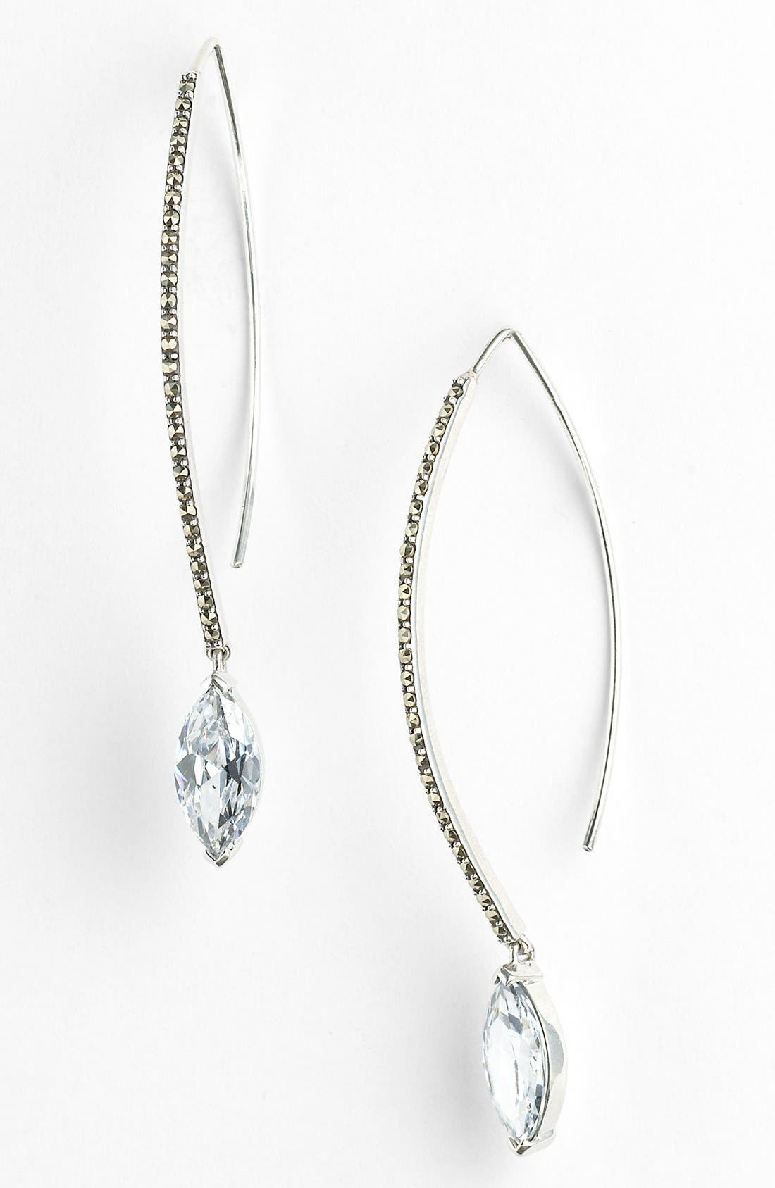 Main Image - Judith Jack Linear Marquise Drop Earrings