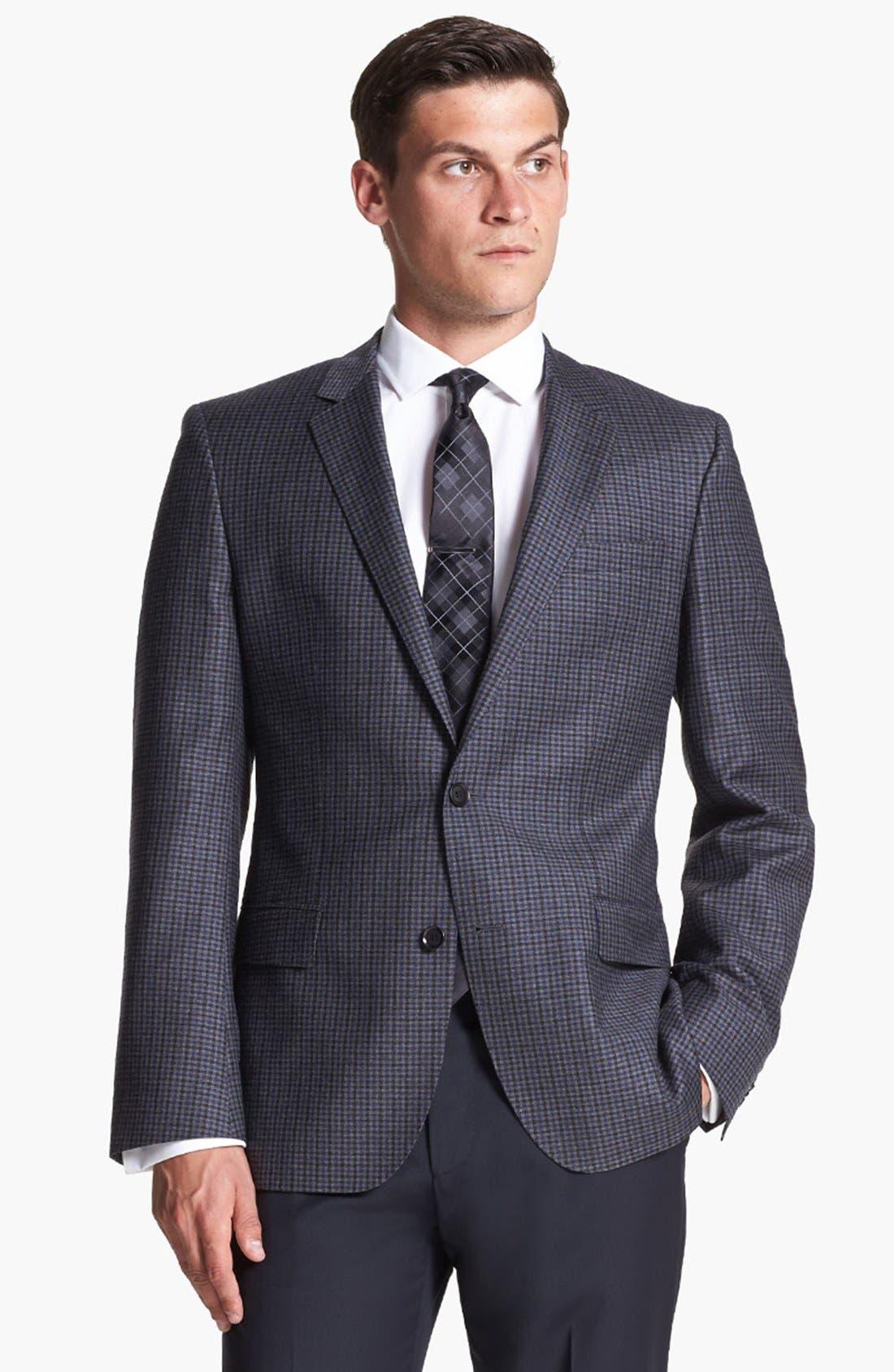 Alternate Image 1 Selected - BOSS HUGO BOSS 'Hutch' Trim Fit Check Sportcoat