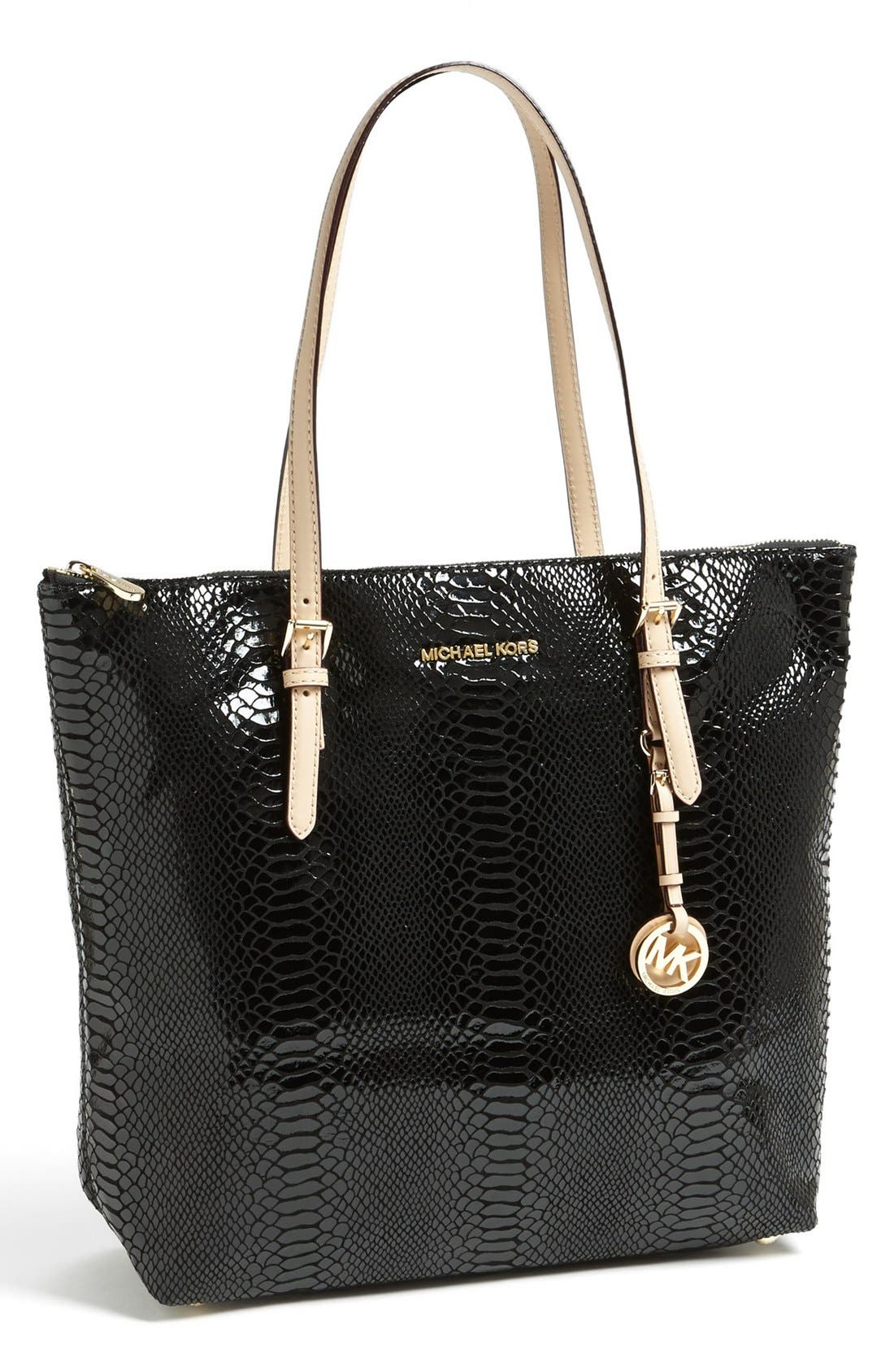 Main Image - MICHAEL Michael Kors 'Jet Set - Large' Patent Leather Tote