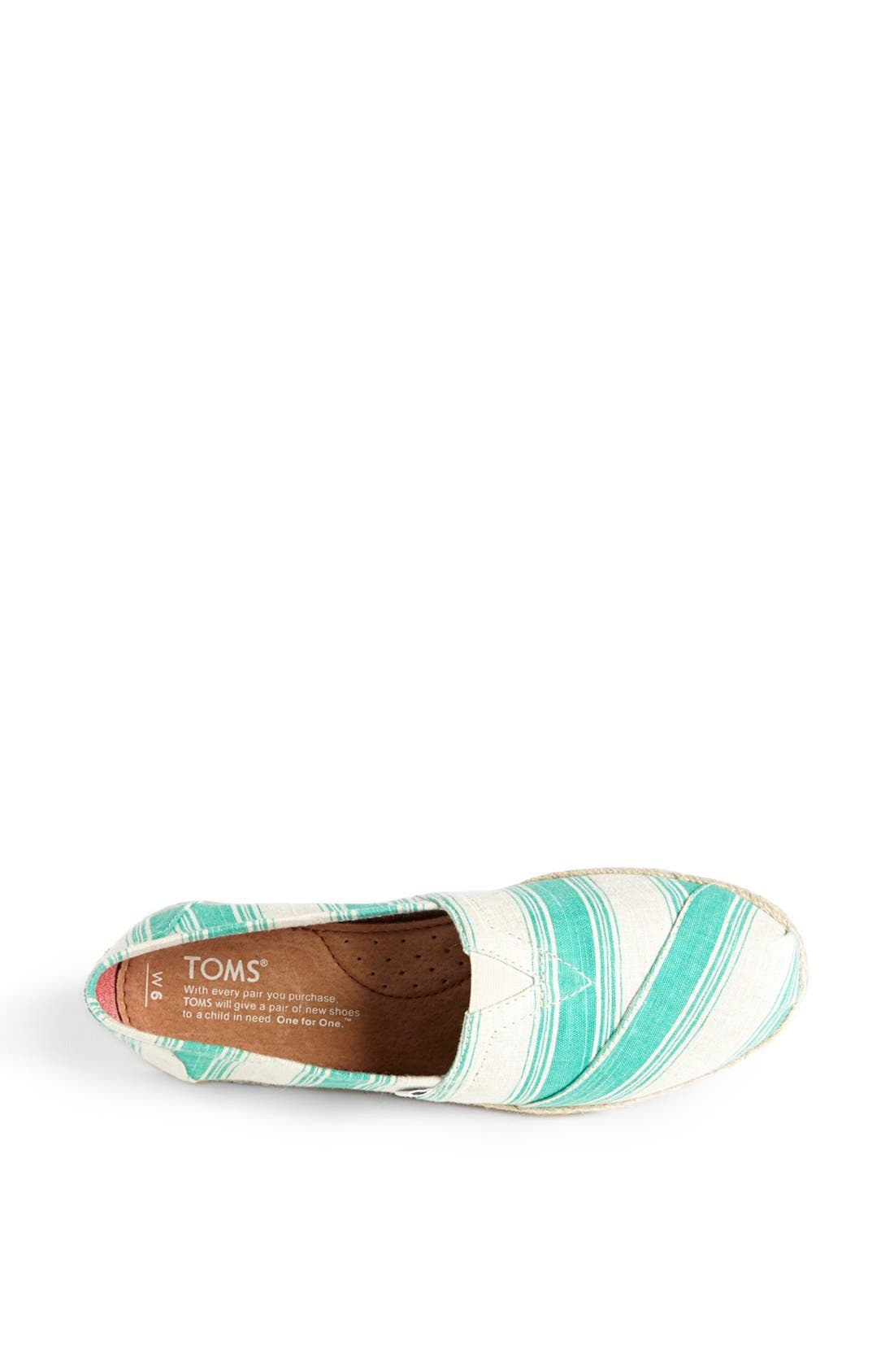 Alternate Image 3  - TOMS 'Classics - Umbrella Stripe' Slip-On (Women)