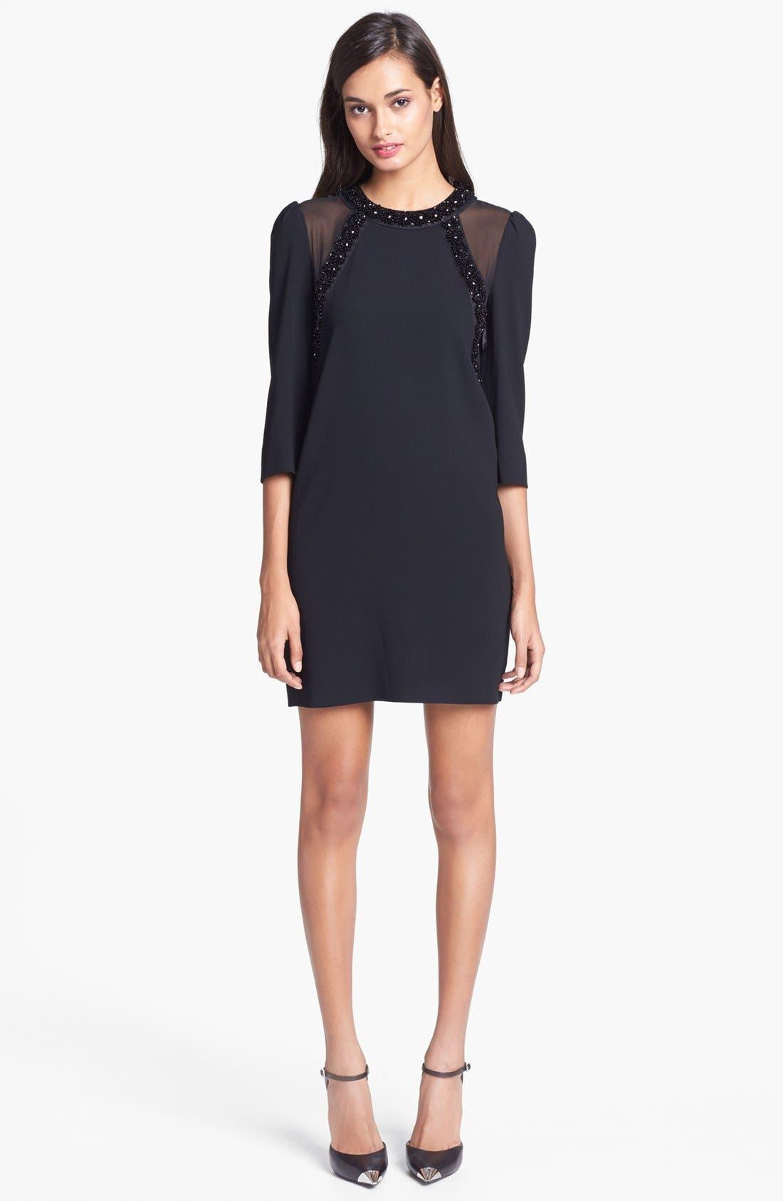 Main Image - MARC BY MARC JACOBS 'Kisa' Embellished Silk Shift Dress