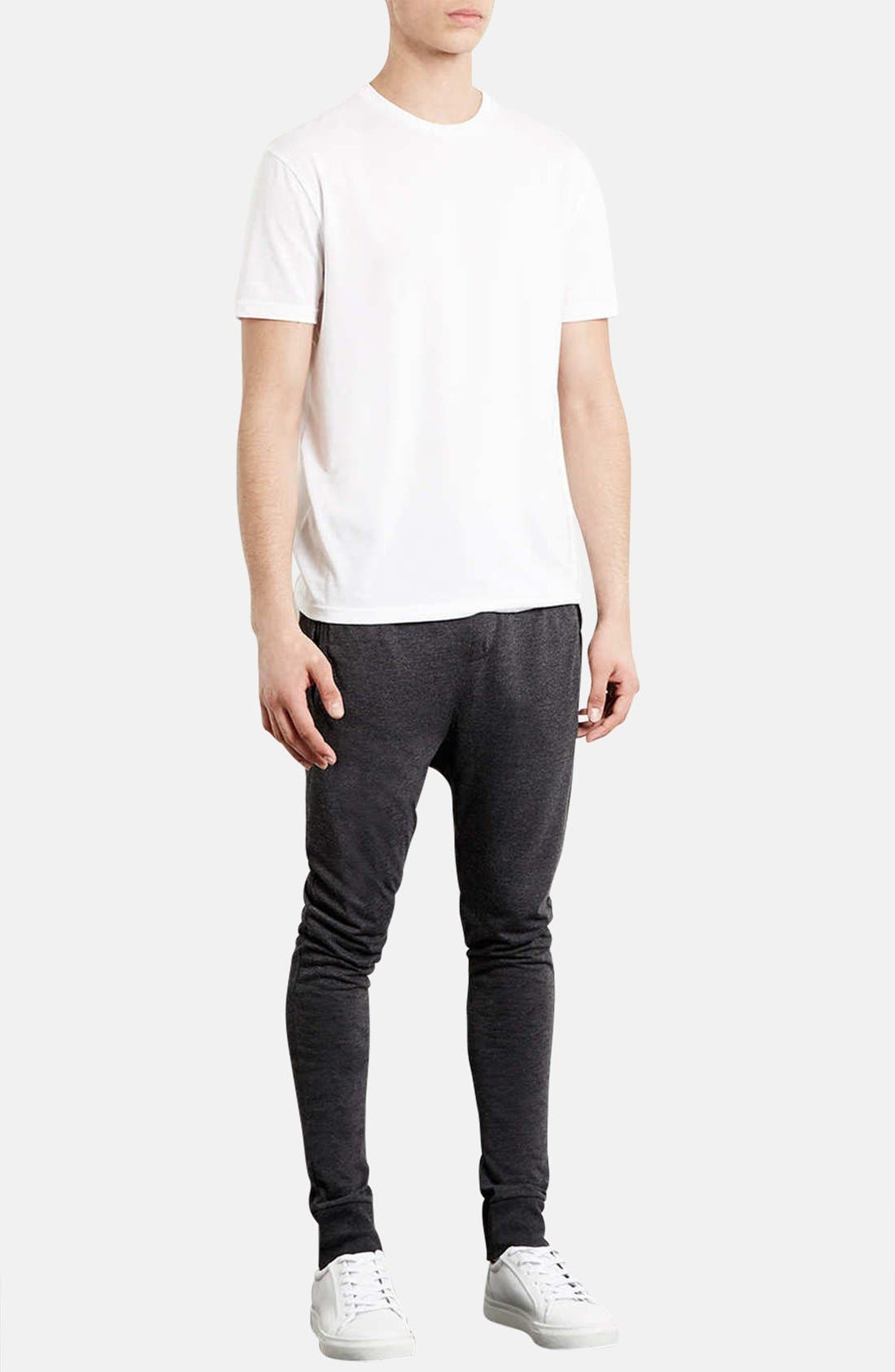 Alternate Image 4  - Topman Skinny Fit Jogger Sweatpants