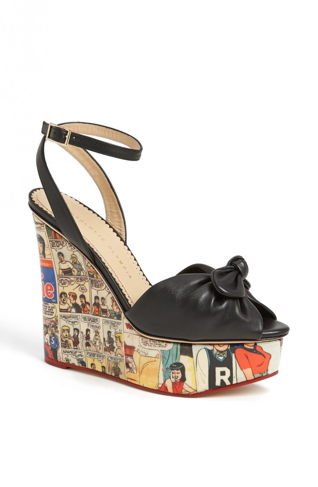 Alternate Image 1 Selected - Charlotte Olympia 'Archie' Wedge Sandal (Nordstrom Exclusive)