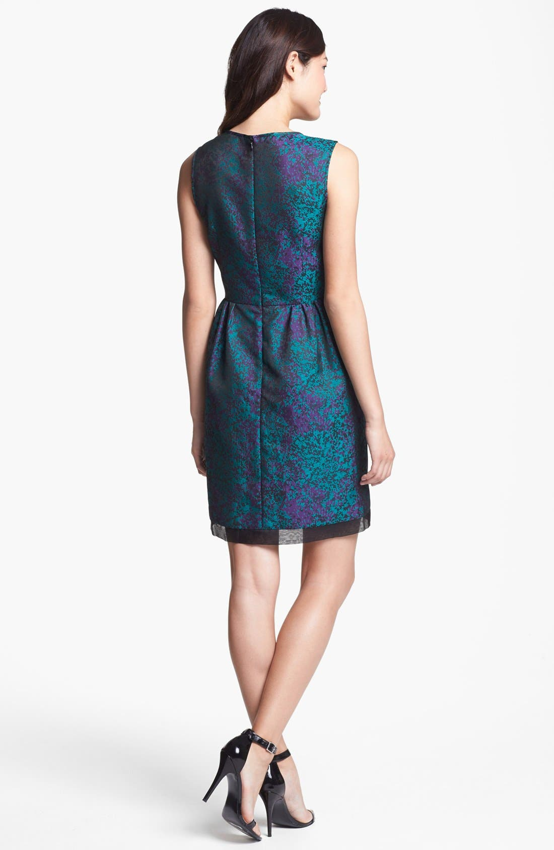 Alternate Image 2  - Ivy & Blu Brocade Fit & Flare Dress (Petite)