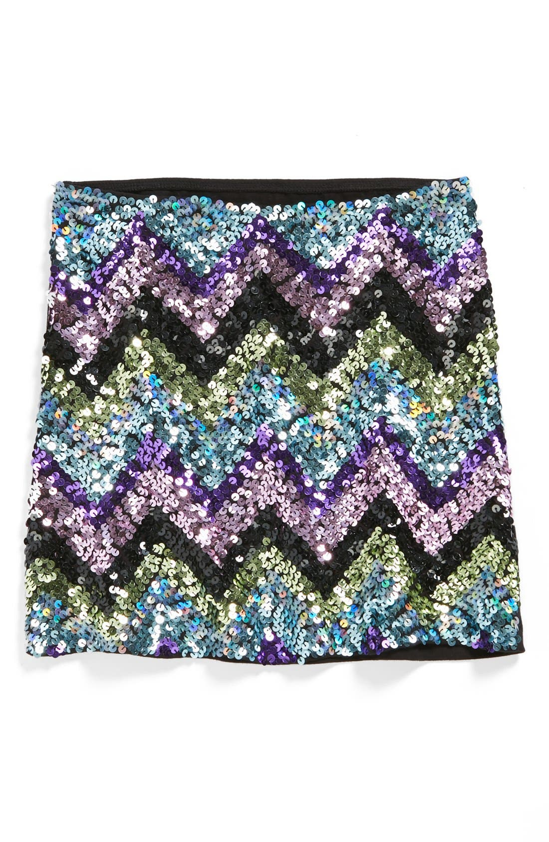 Main Image - Flowers by Zoe Sequin Skirt (Big Girls)