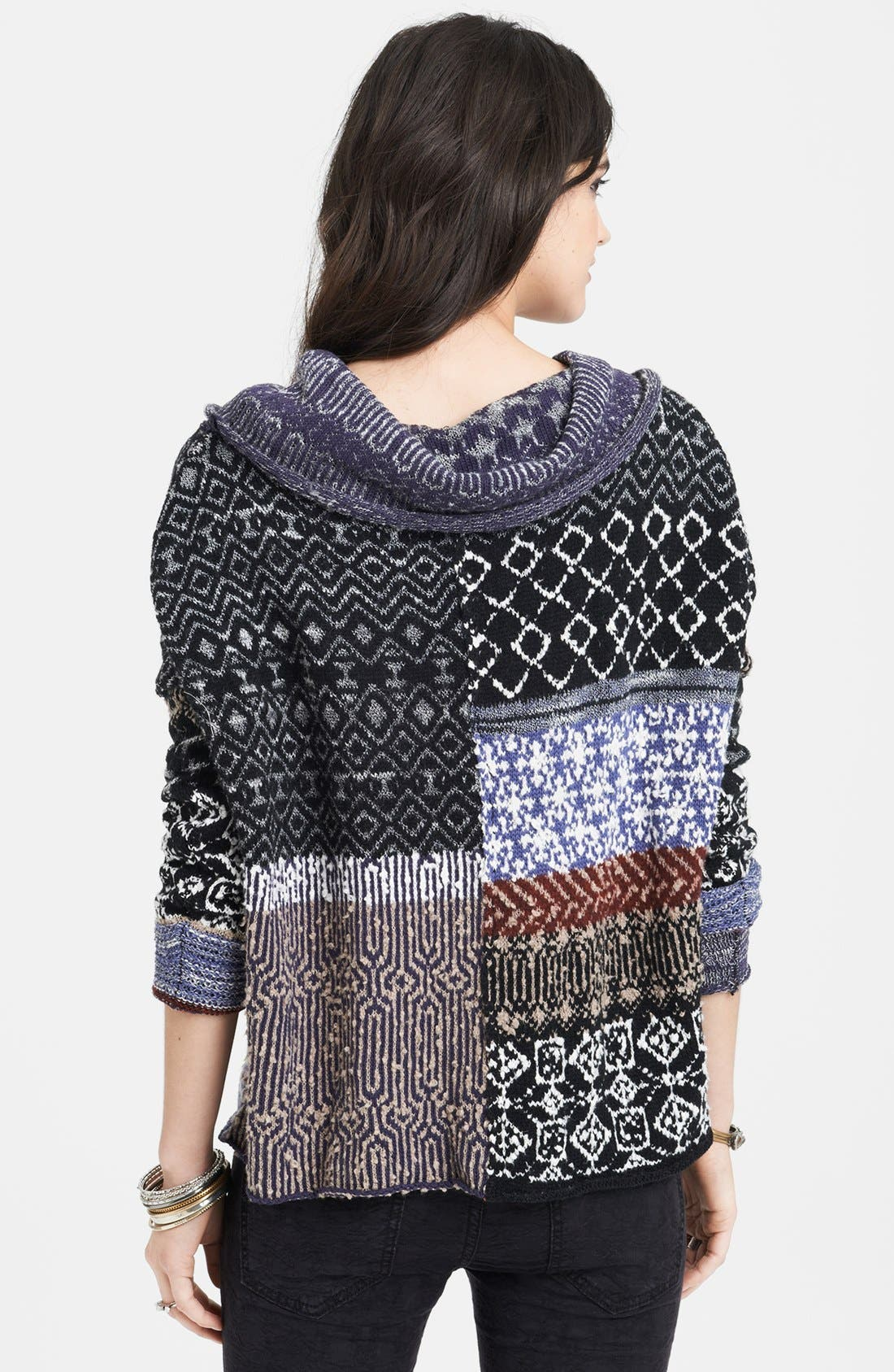 Alternate Image 2  - Free People Cowl Neck Patchwork Sweater