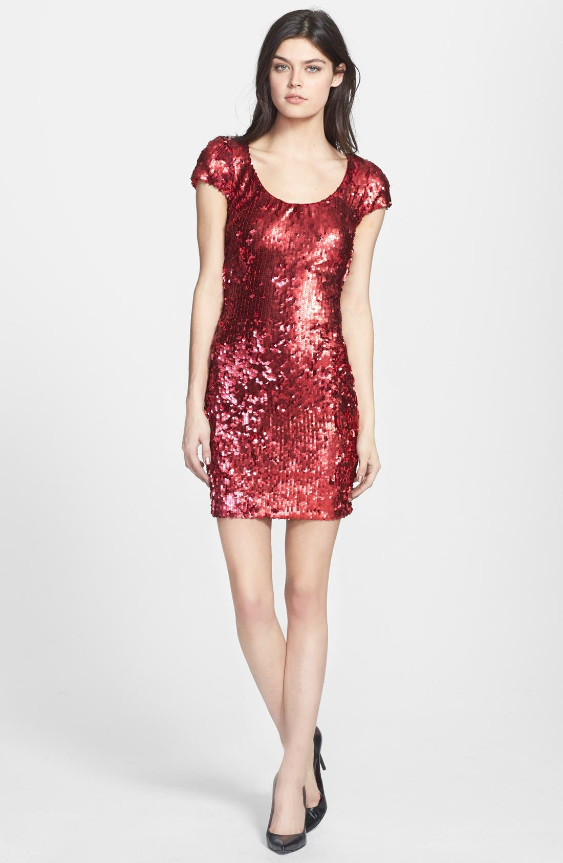 Alternate Image 3  - Dress the Population 'Gabriella' Back Cutout Sequin Body-Con Dress