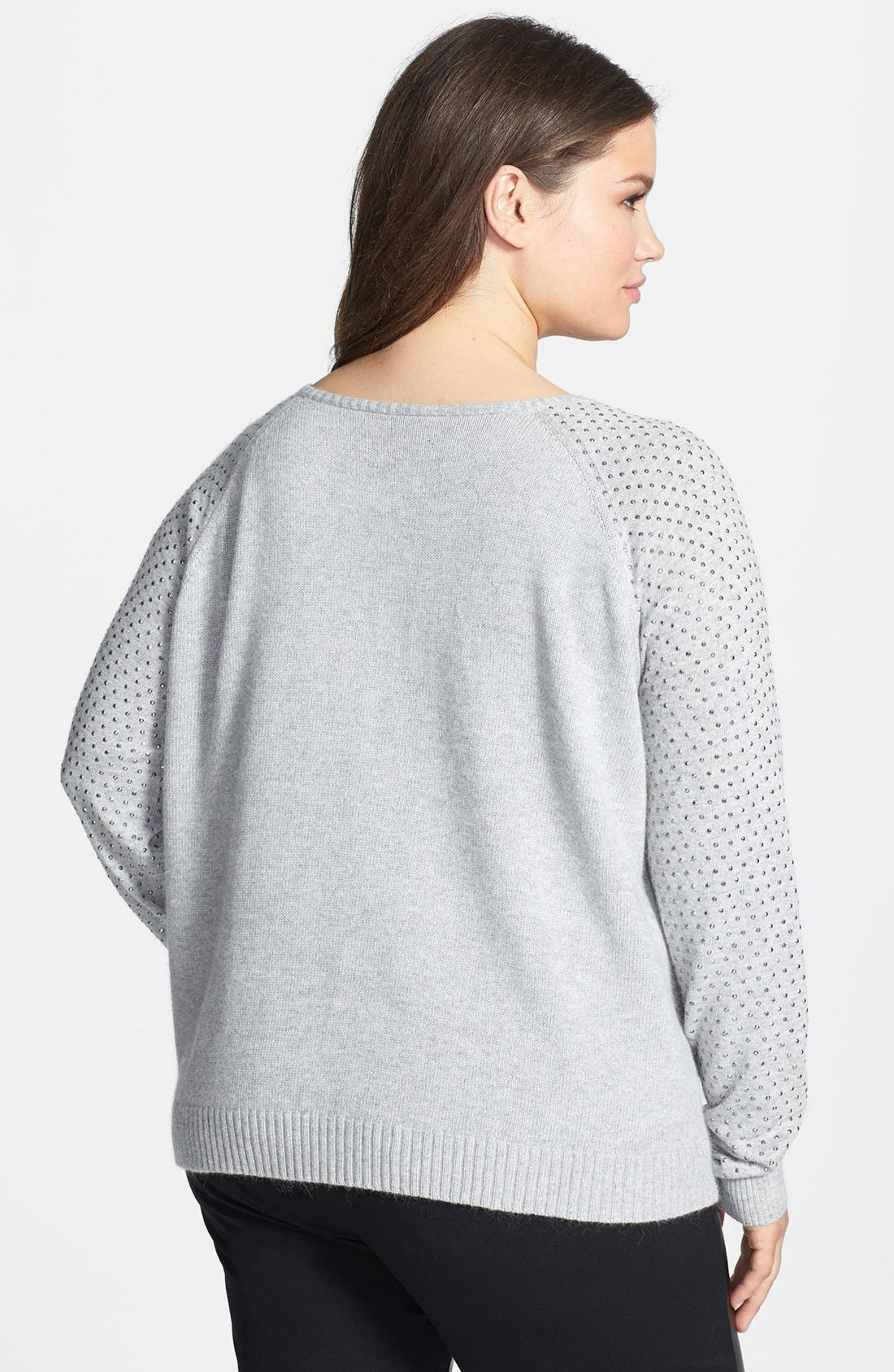 Alternate Image 2  - DKNYC Studded Pullover (Plus Size)
