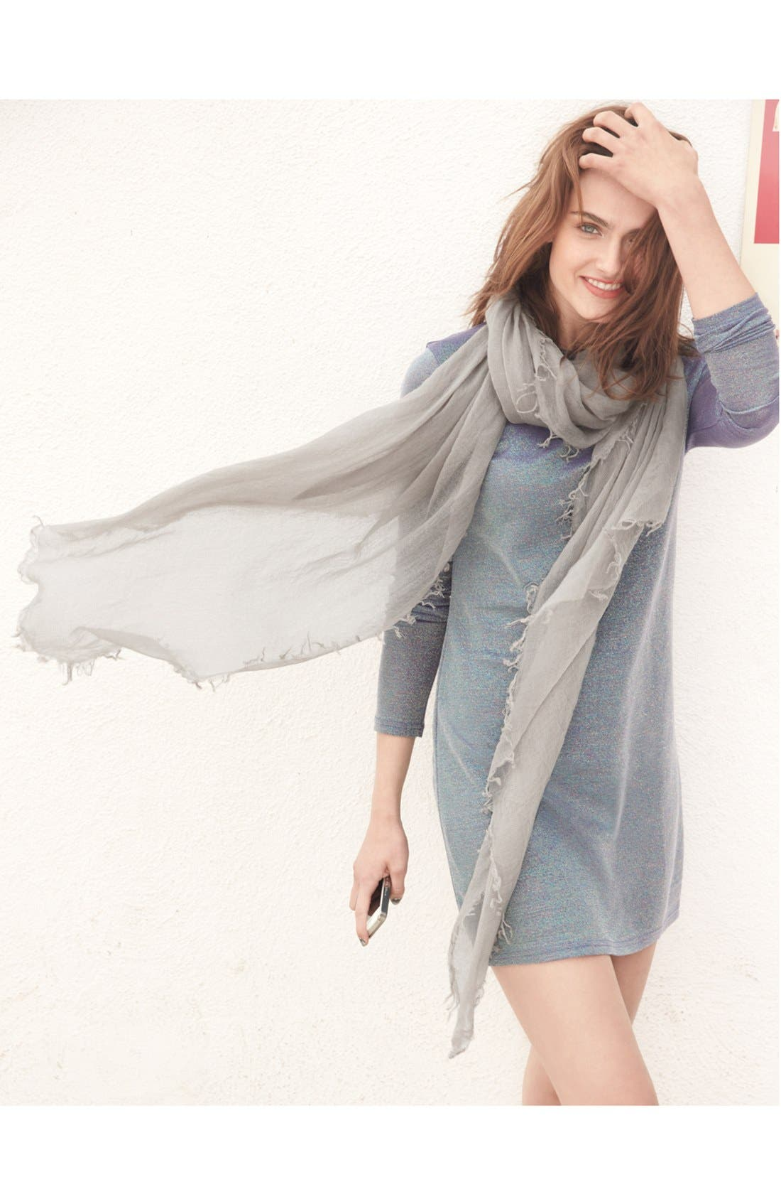Alternate Image 3  - Halogen® Crinkled Cashmere Wrap