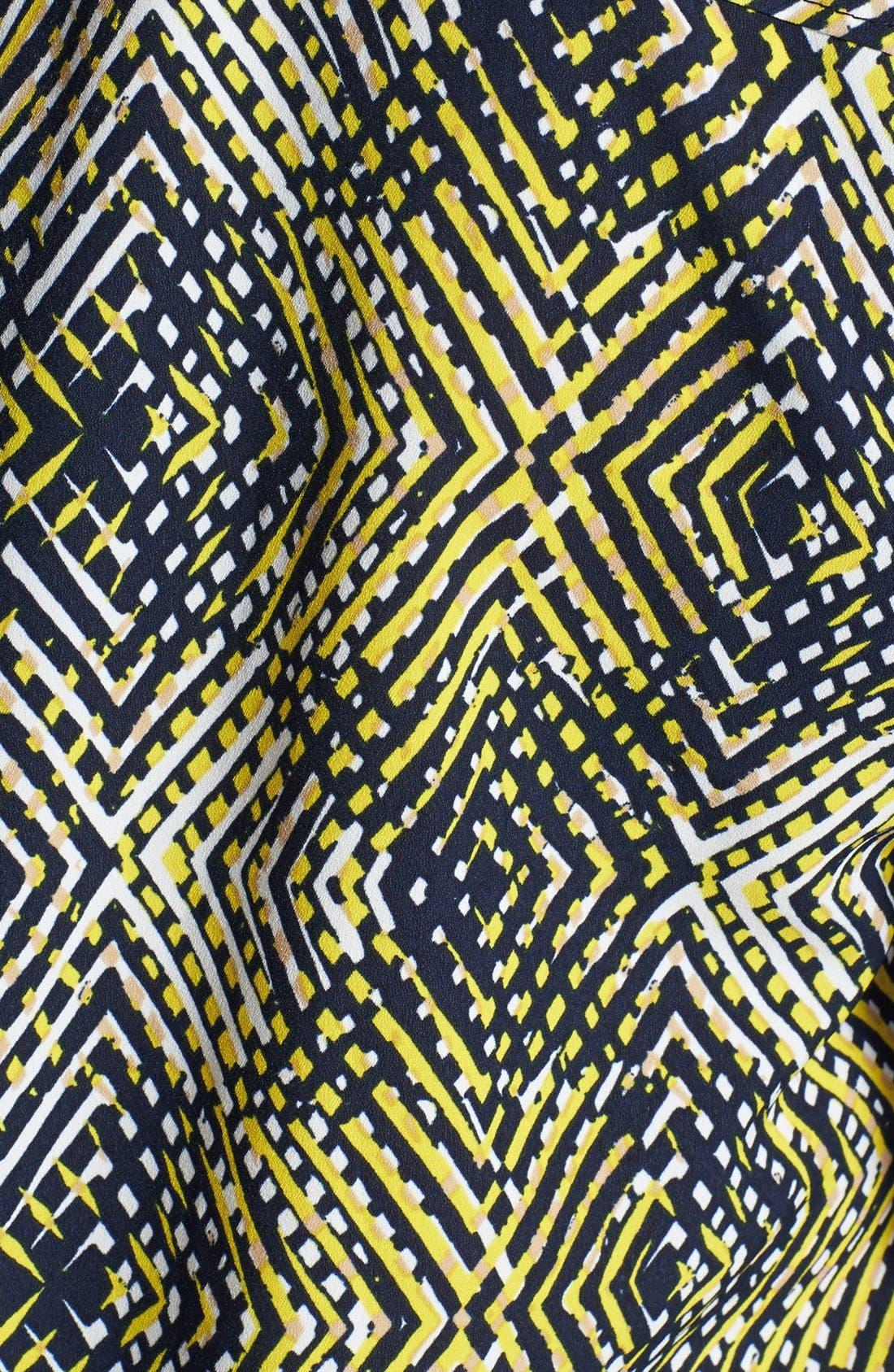Alternate Image 3  - Anne Klein Argyle Print Roll Sleeve Shirt (Plus Size)