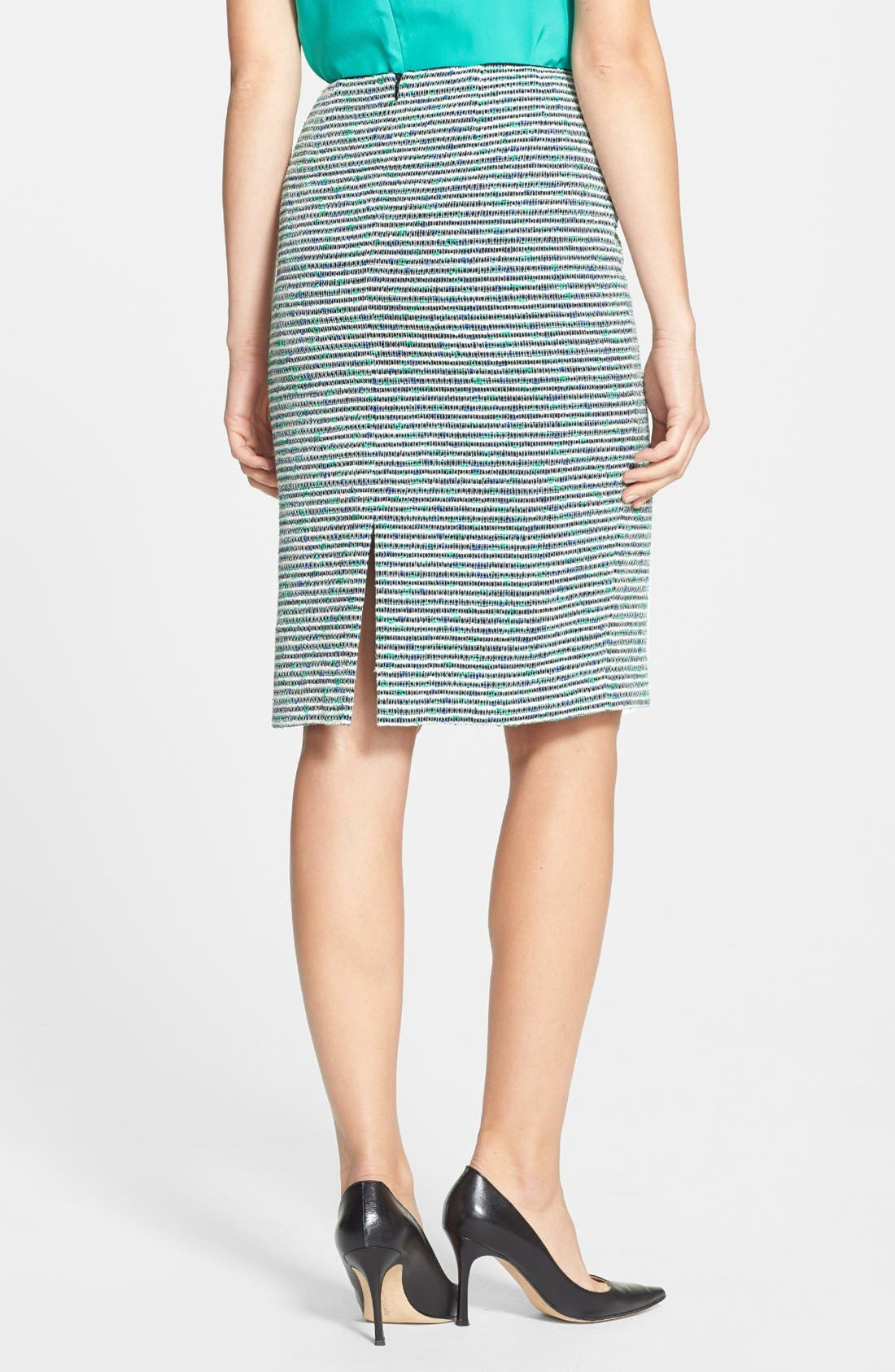 Alternate Image 2  - Lafayette 148 New York 'Revelin' Stripe Tweed Pencil Skirt