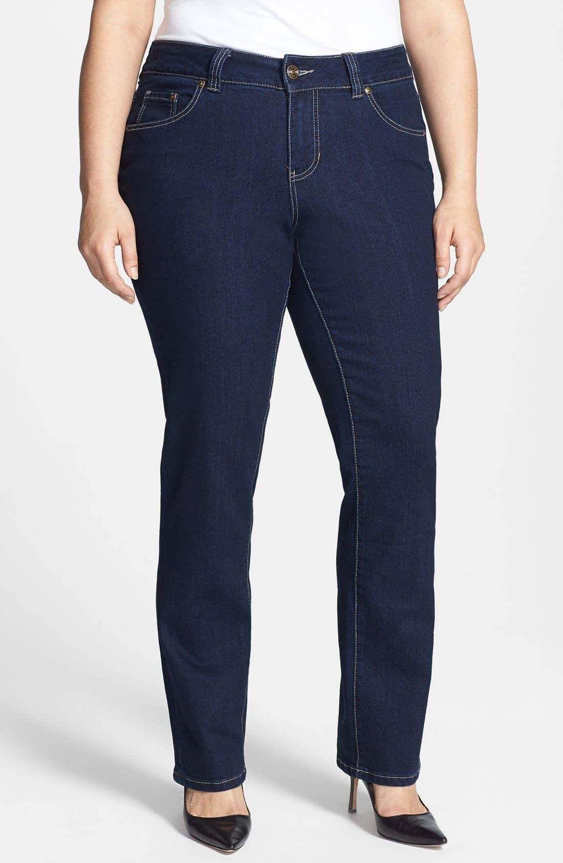 Alternate Image 1 Selected - Jag Jeans 'Alta' Straight Leg Jeans (Plus Size)