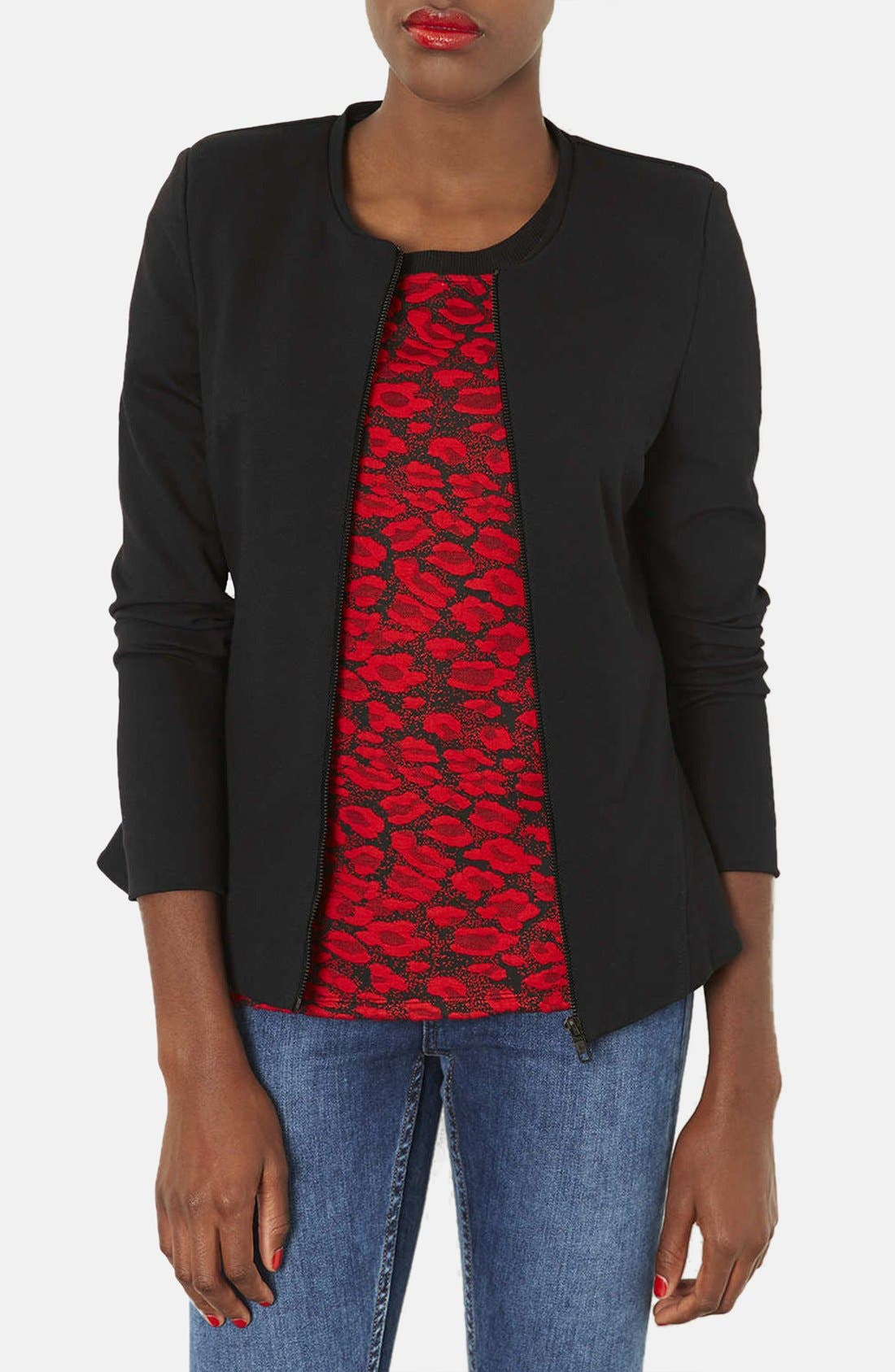 Main Image - Topshop 'Nicole' Tailored Peplum Jacket