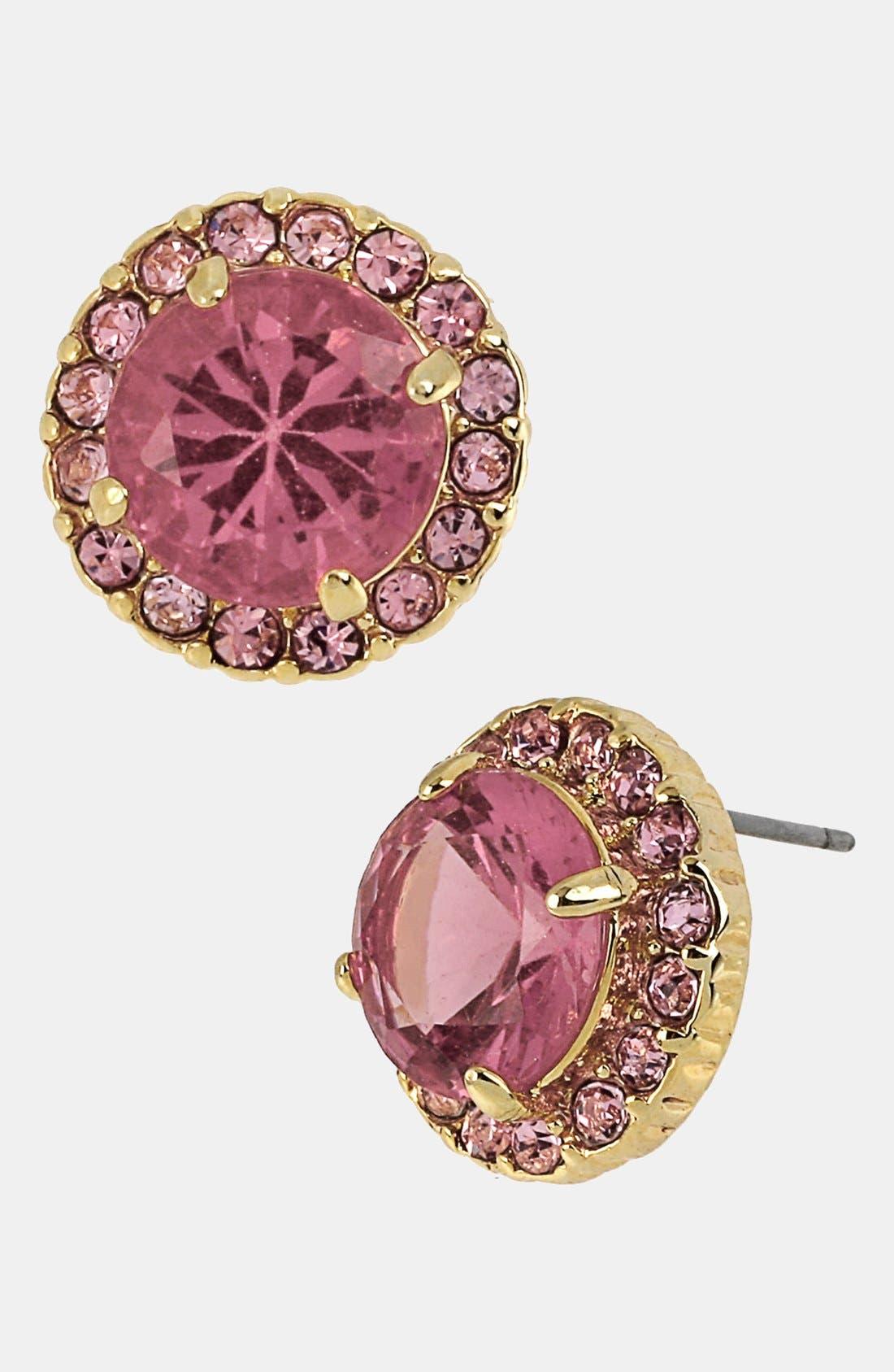 Alternate Image 1 Selected - Betsey Johnson 'Iconic Pinkalicious' Stud Earrings