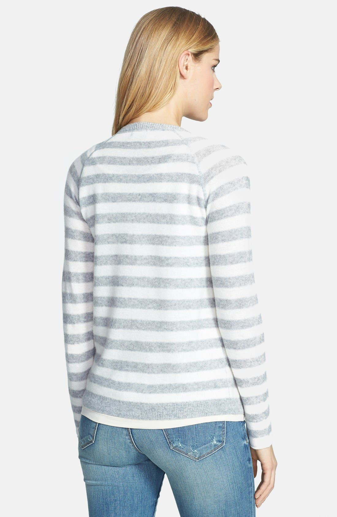 Alternate Image 2  - Only Mine Striped Cashmere Sweater