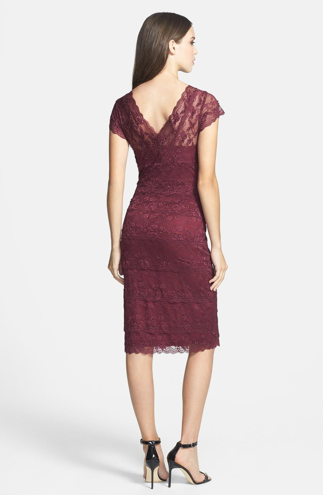 Alternate Image 2  - Marina Tiered Lace Dress (Regular & Petite)