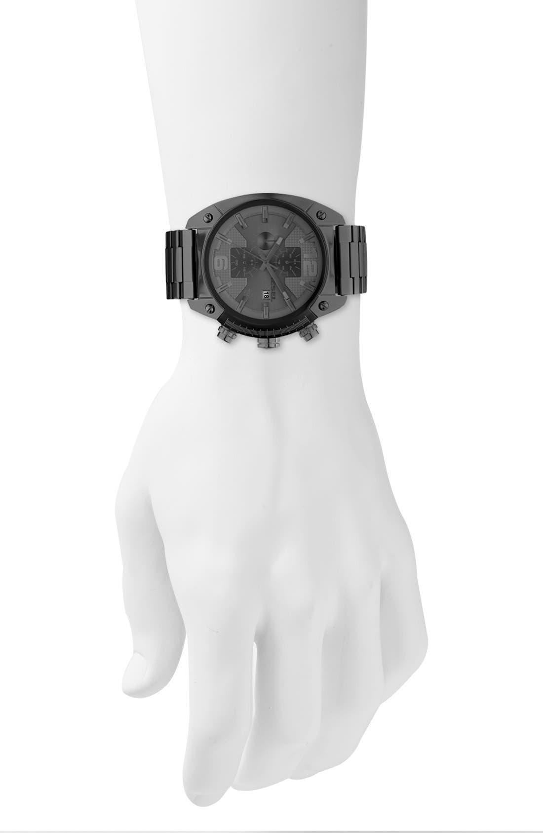 Alternate Image 2  - DIESEL® 'Overflow' Chronograph Bracelet Watch, 46mm x 49mm