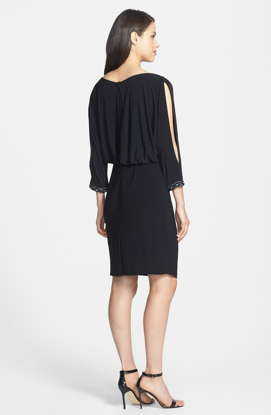 Alternate Image 2  - Marina Embellished Cold Shoulder Jersey Blouson Dress