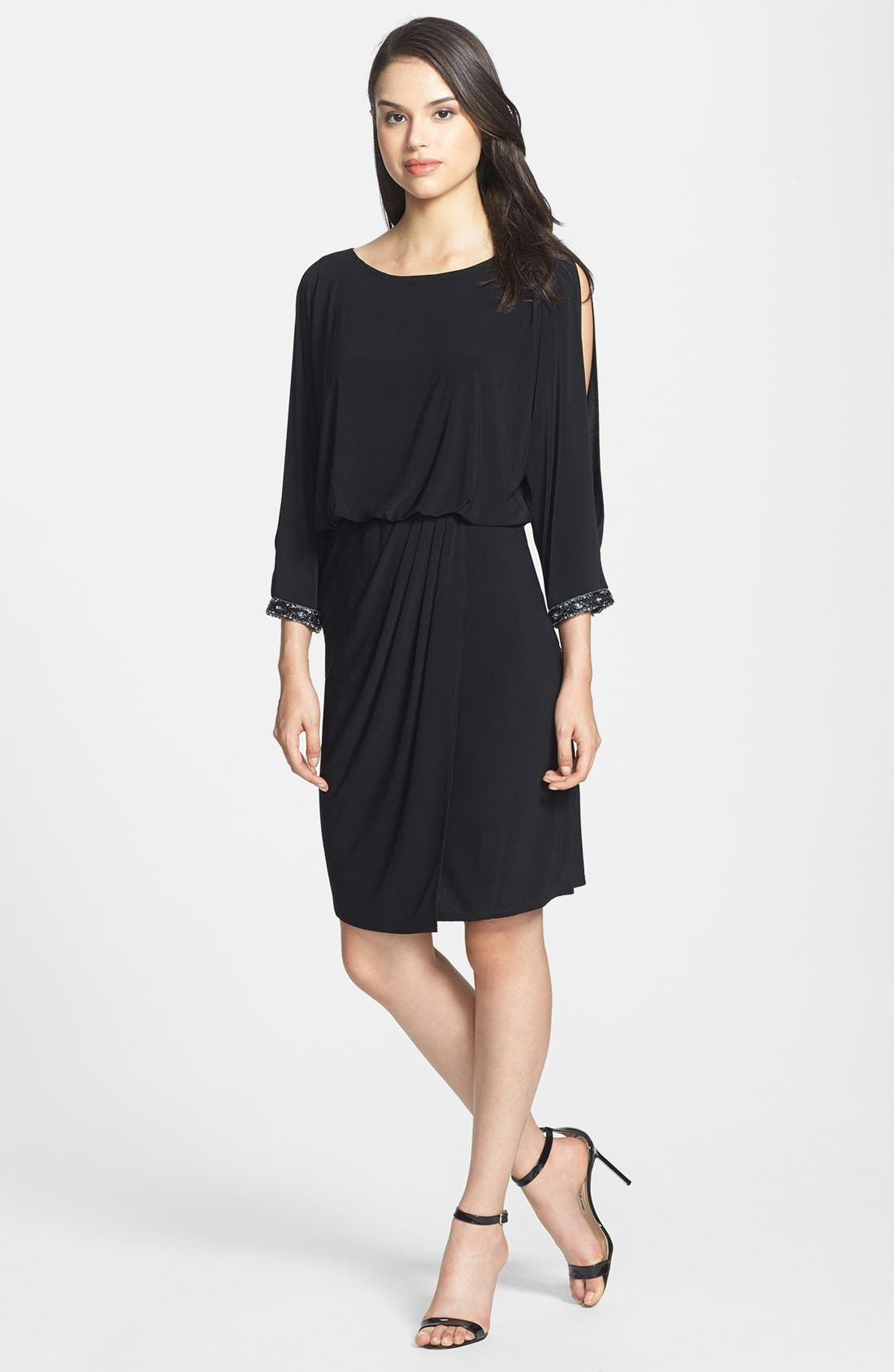 Alternate Image 3  - Marina Embellished Cold Shoulder Jersey Blouson Dress