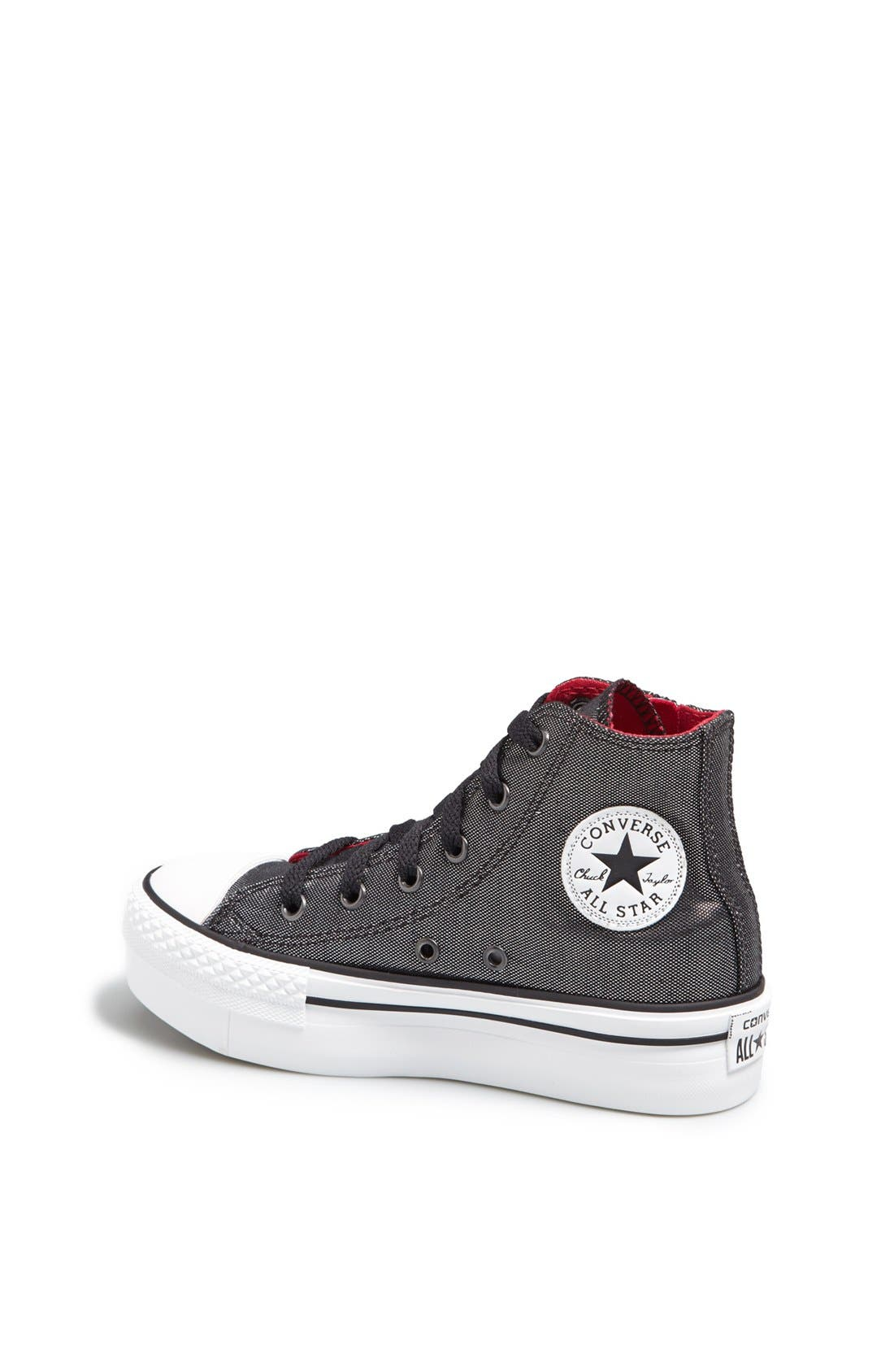 Alternate Image 2  - Converse Chuck Taylor® All Star® 'CT AS' Platform Zip Sneaker (Toddler, Little Kid & Big Kid)