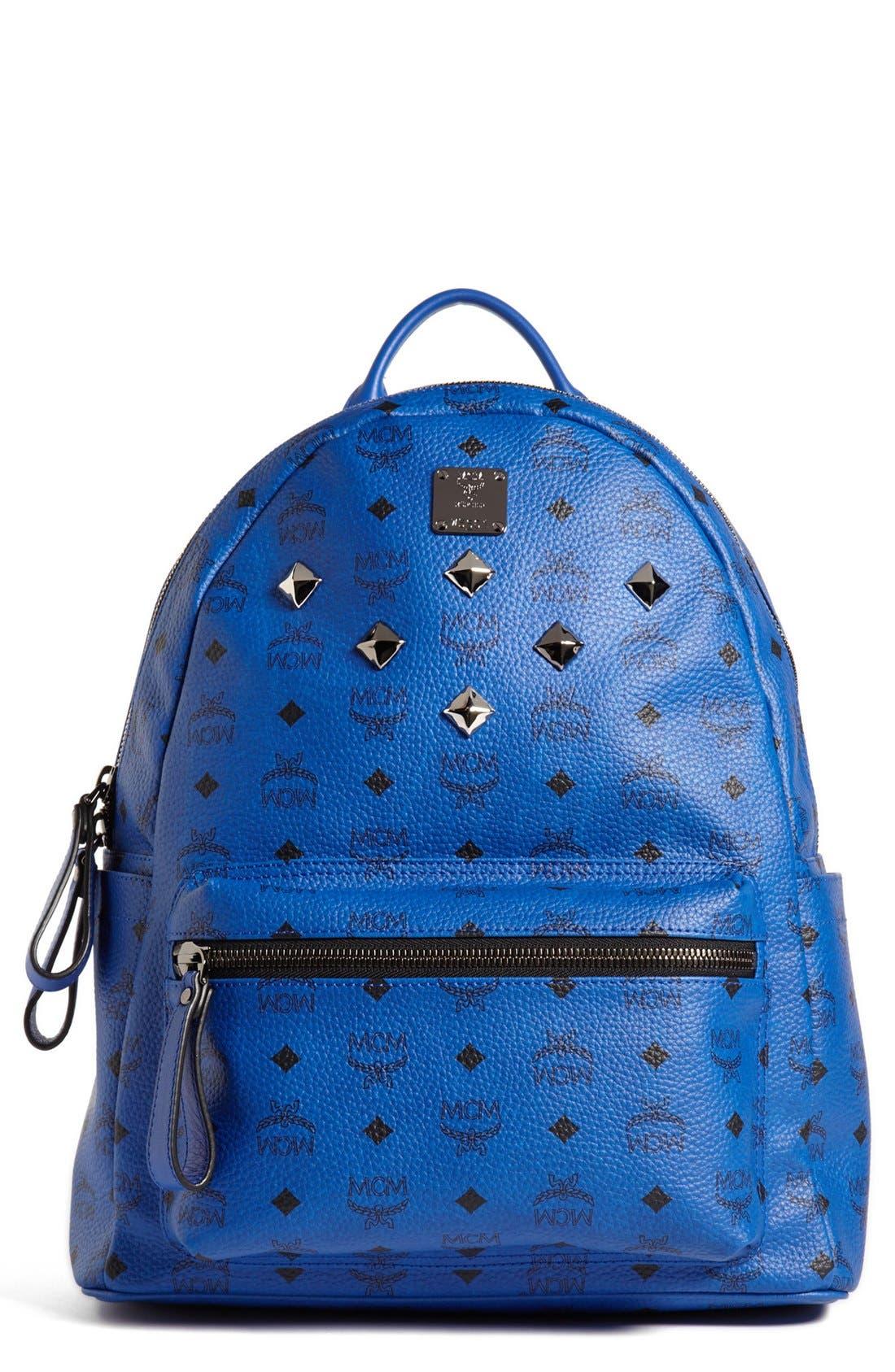 Main Image - MCM 'Sprinkle Stud - Medium' Coated Canvas Backpack