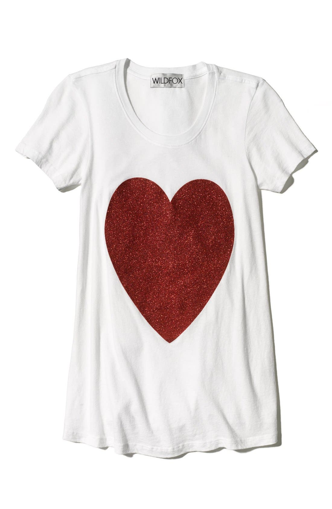 Alternate Image 4  - Wildfox 'Sparkle Heart' Crewneck Cotton Tee (Special Purchase)