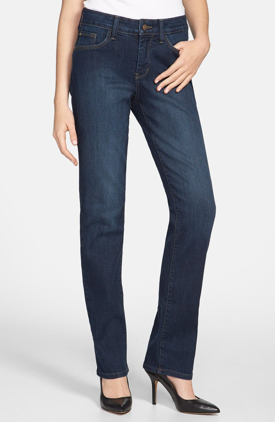 Alternate Image 1 Selected - NYDJ 'Marilyn' Stretch Straight Leg Jeans (Tustin) (Regular & Petite)