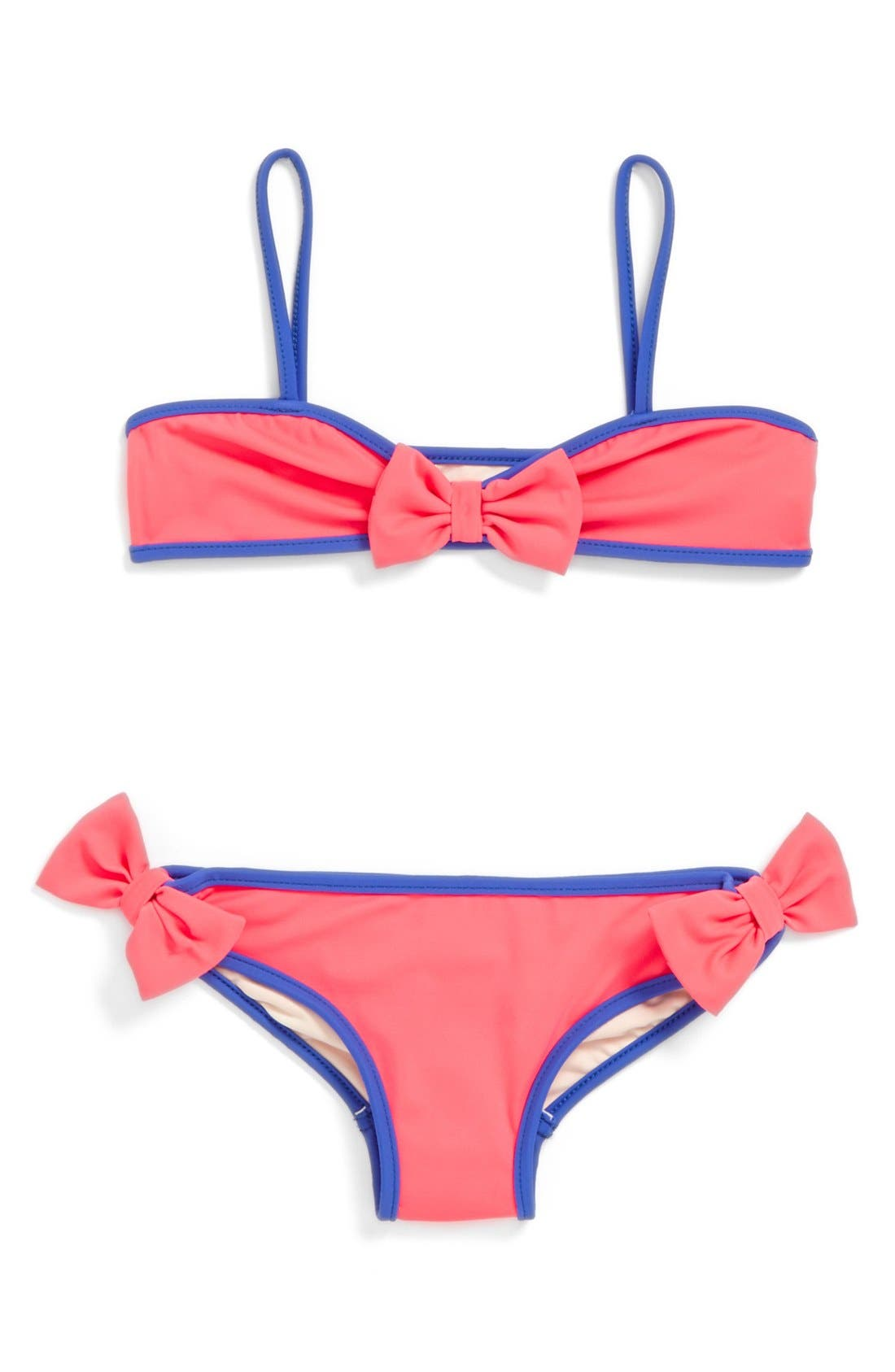 Alternate Image 1 Selected - Milly Minis 'Mini Bow' Two-Piece Swimsuit (Toddler Girls, Little Girls & Big Girls)