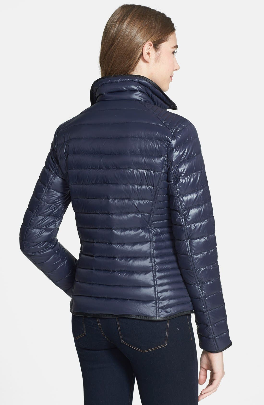 Alternate Image 2  - MICHAEL Michael Kors Faux Leather Trim Down Jacket