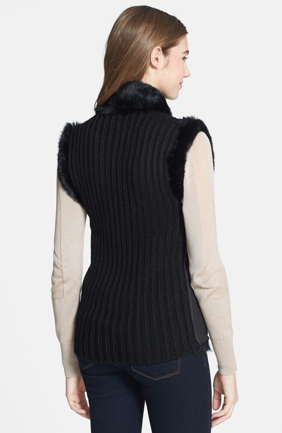 Alternate Image 4  - Linda Richards Reversible Genuine Rabbit Fur Front Vest
