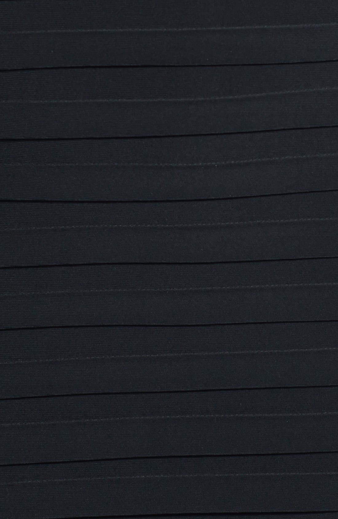 Alternate Image 3  - Xscape Lace Sleeve Shutter Pleat Sheath Dress (Plus Size)
