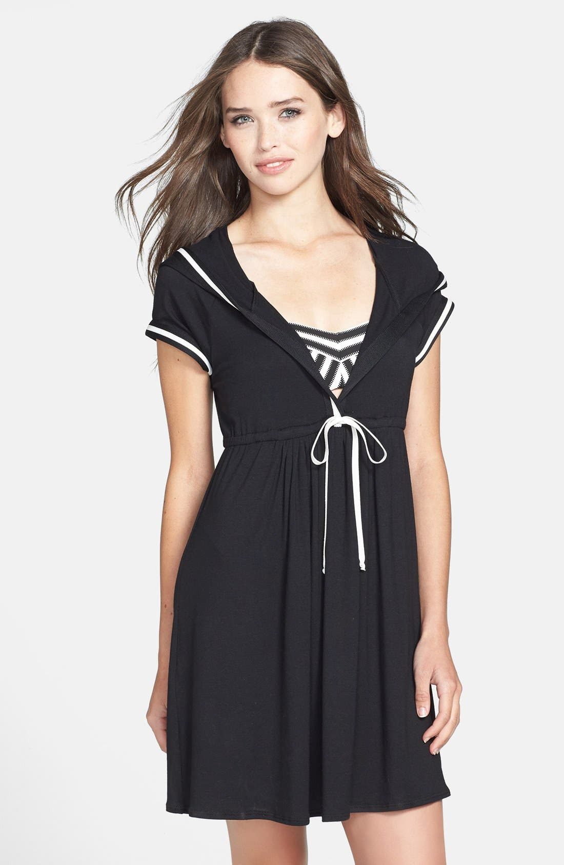 Alternate Image 1 Selected - Robin Piccone 'Victoria' Cover-Up Hoodie Dress