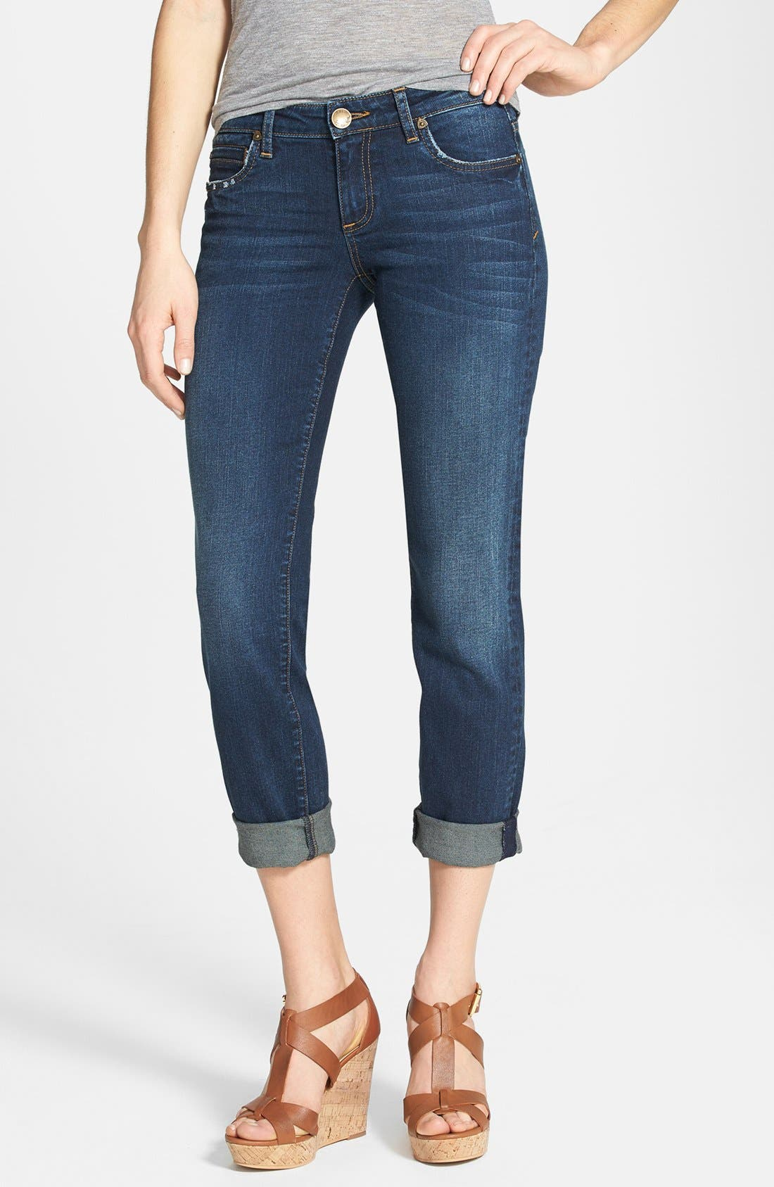 Alternate Image 1 Selected - KUT from the Kloth 'Catherine' Boyfriend Jeans (Magnify) (Regular & Petite)