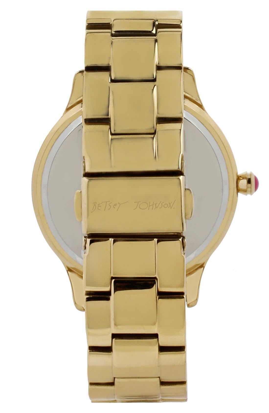 Alternate Image 2  - Betsey Johnson Leopard Print Dial Watch, 40mm