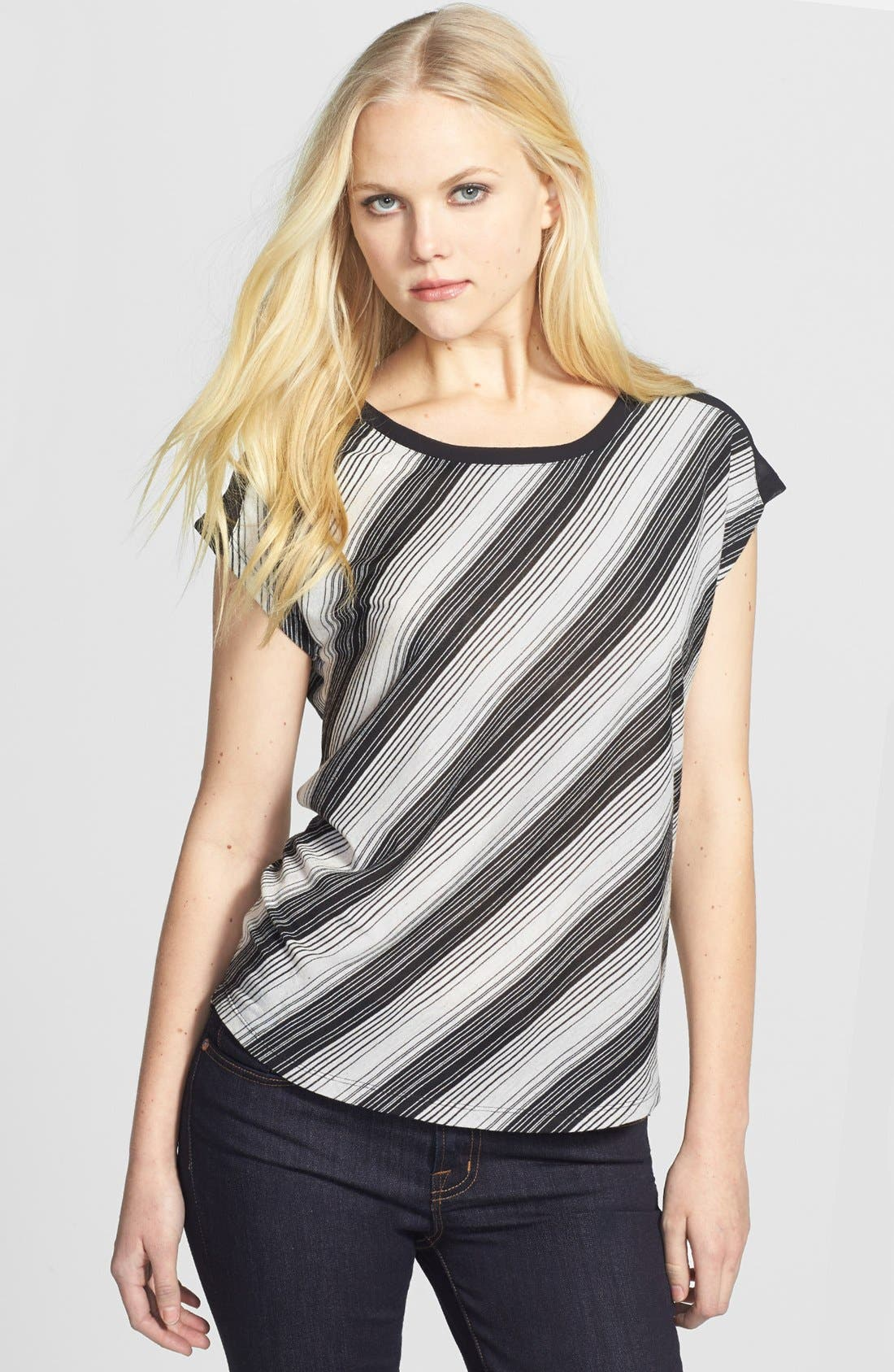 Alternate Image 2  - Two by Vince Camuto 'Close Stripe' Back Tie Top