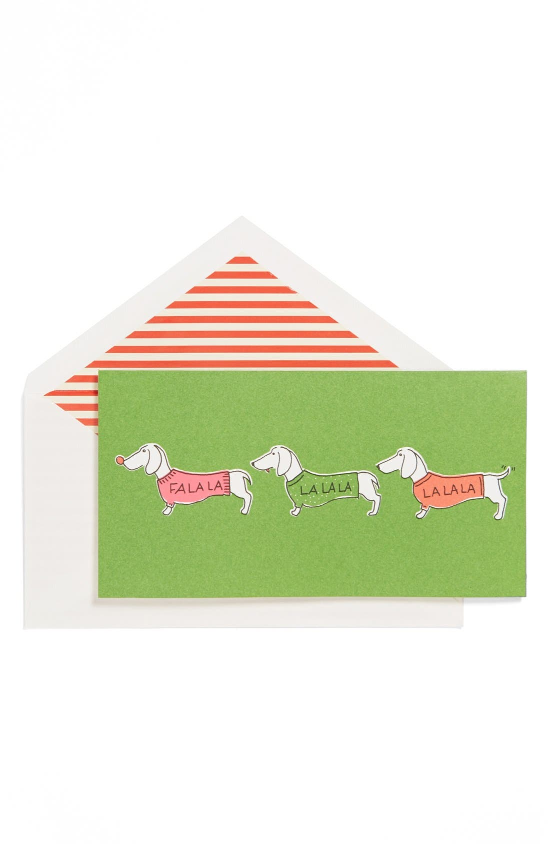 Alternate Image 1 Selected - kate spade new york 'fa la la' holiday cards (set of 10)