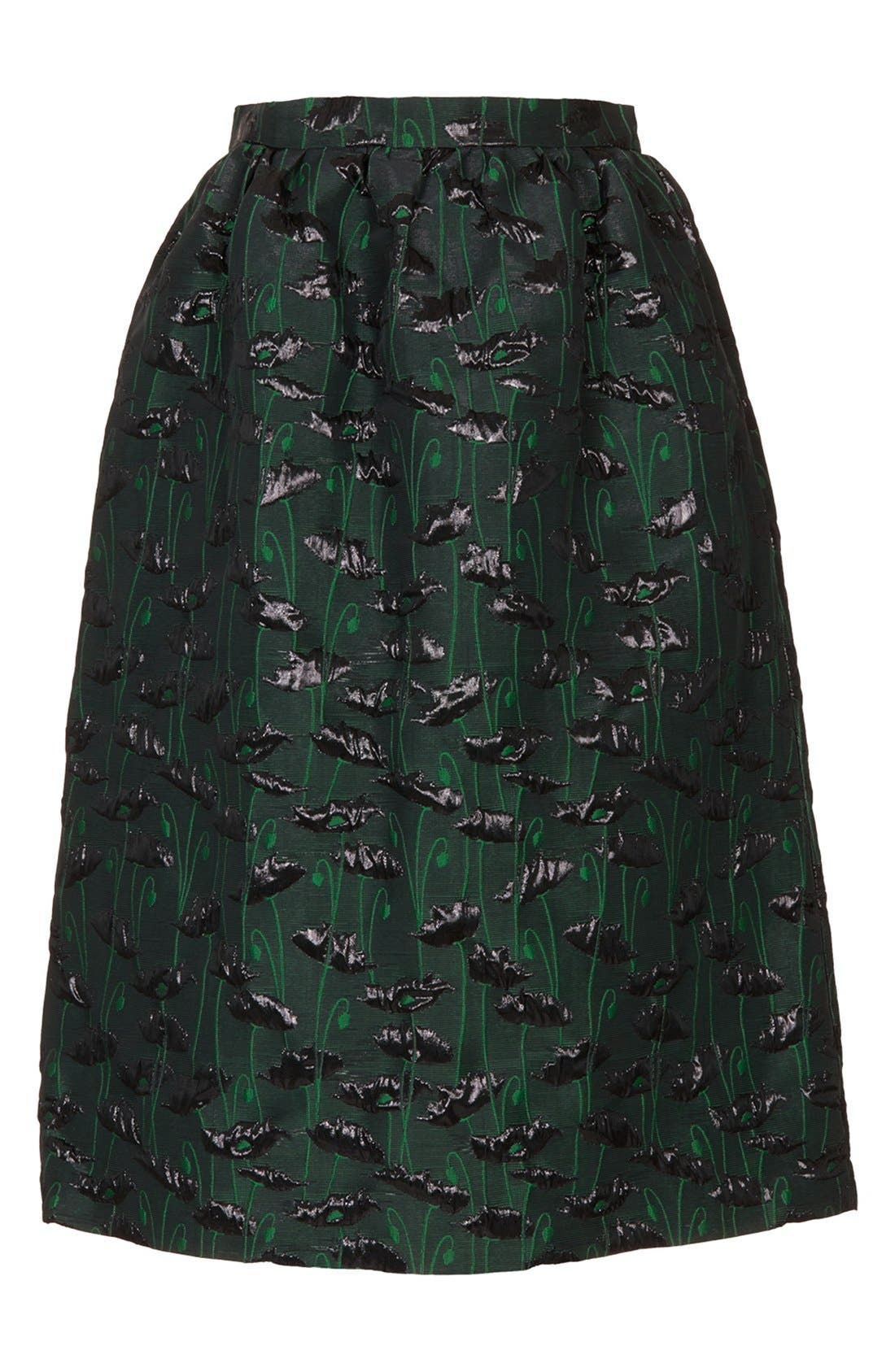 Alternate Image 3  - Topshop Poppy Jacquard Midi Skirt