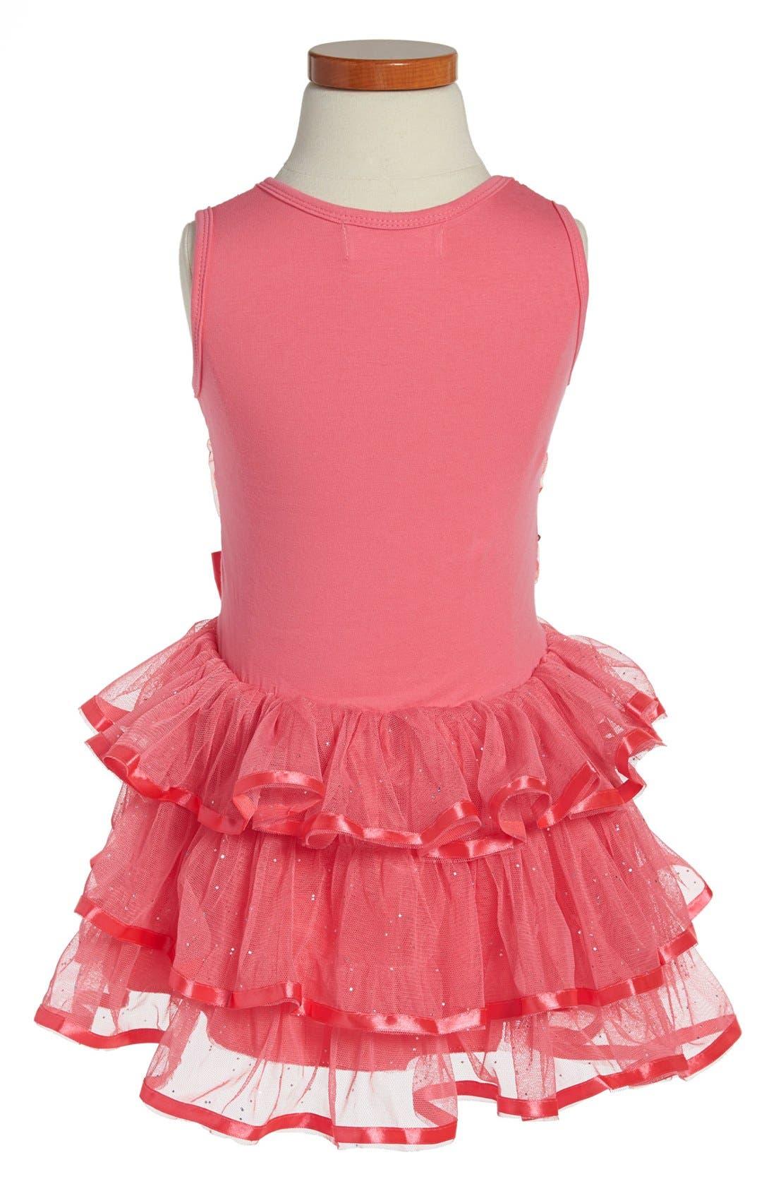 Alternate Image 2  - Popatu Sequin Tiered Dress (Toddler Girls)