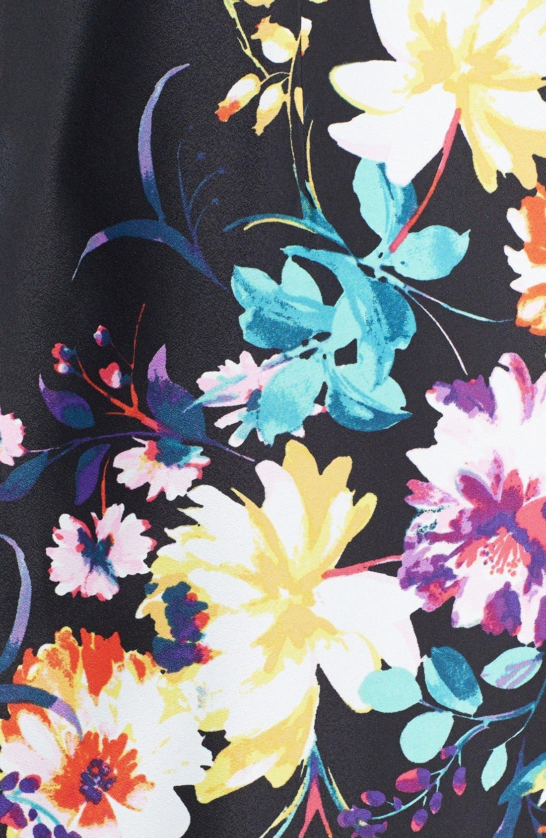 Alternate Image 4  - Eliza J Floral Print Shift Dress (Regular & Petite)