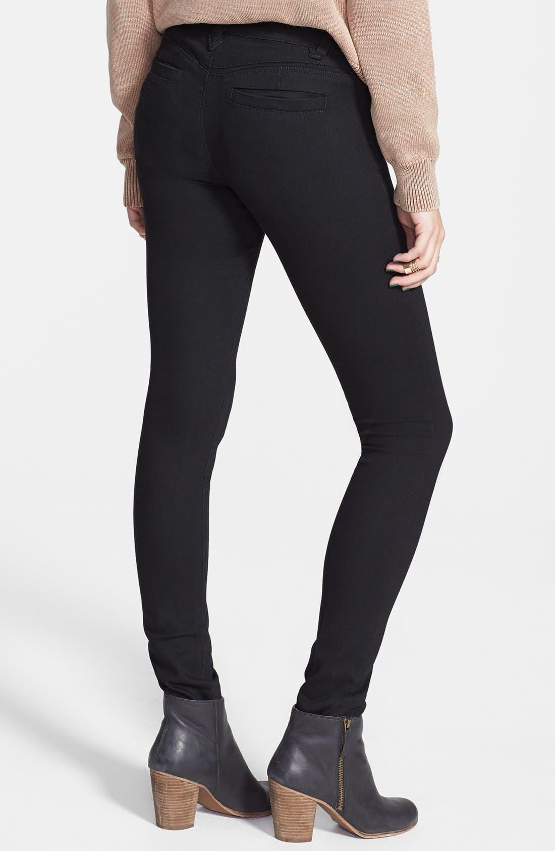 Alternate Image 2  - Jolt Zipper Skinny Jeans (Juniors)