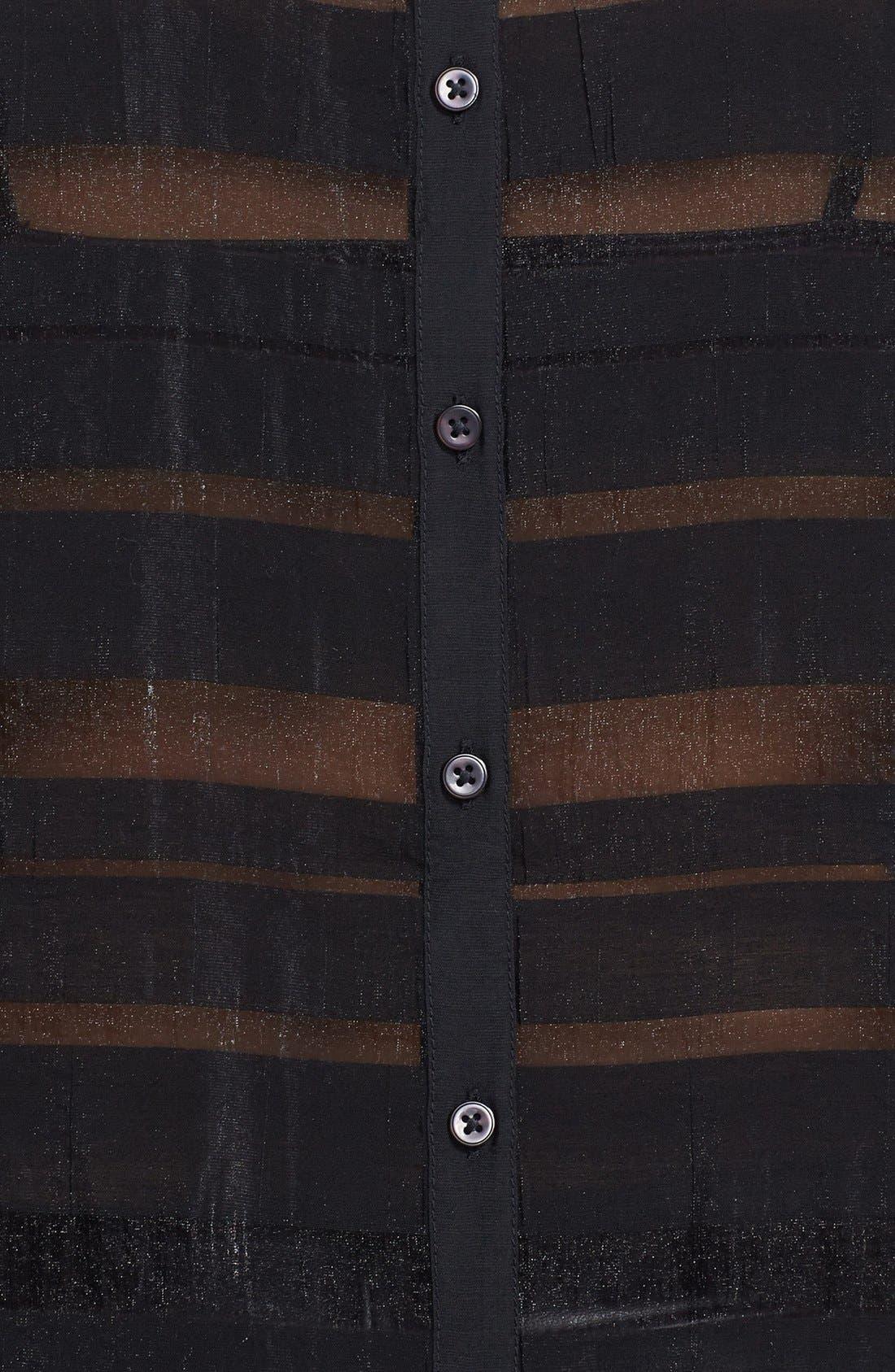 Alternate Image 3  - Tildon Stripe Sheer Blouse