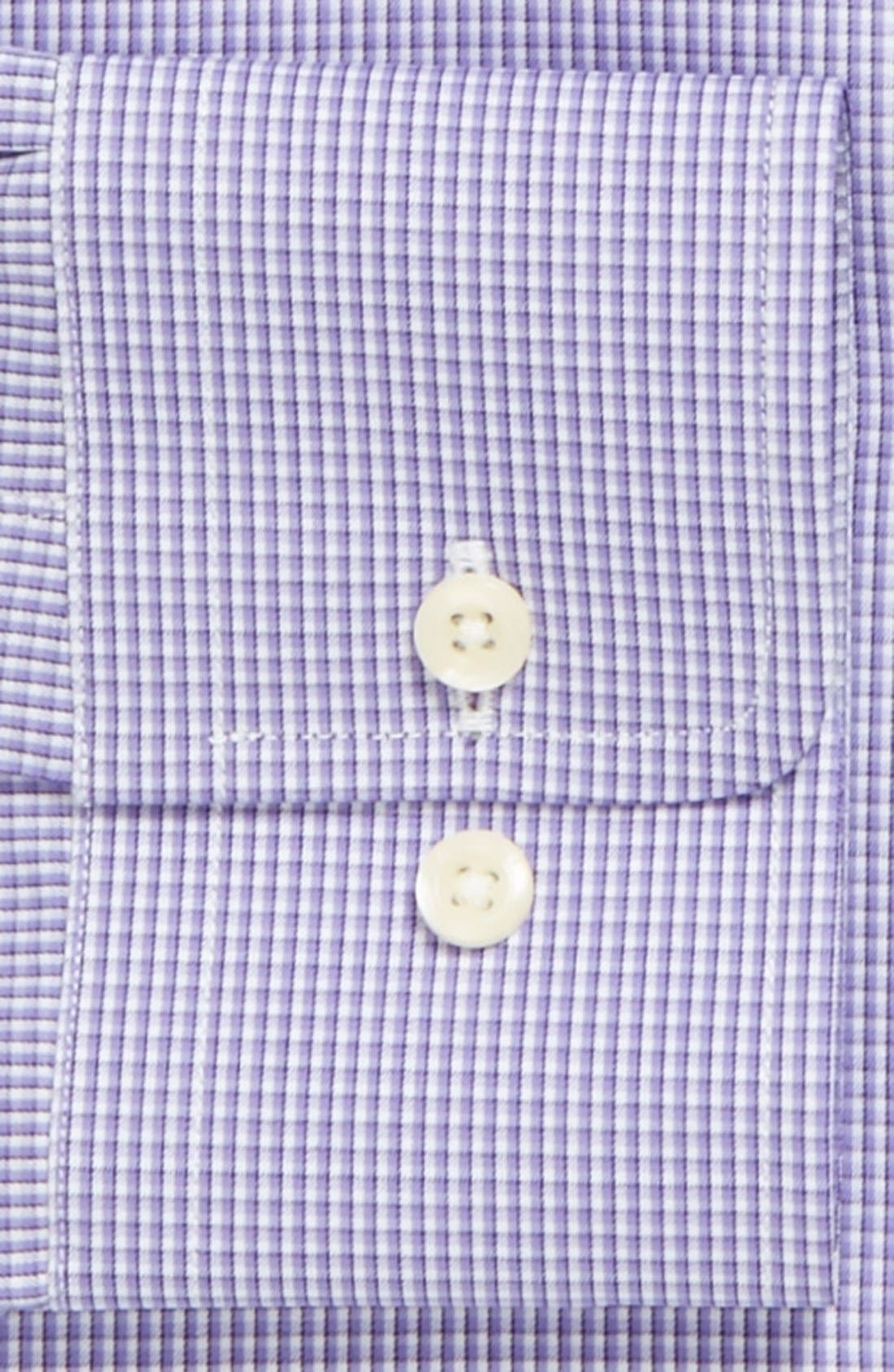 Alternate Image 2  - David Donahue Poplin Check Trim Fit Dress Shirt