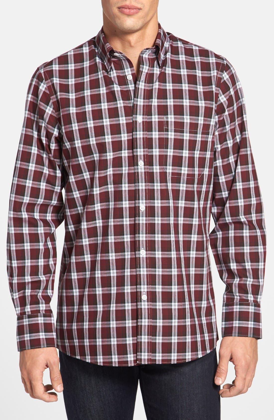 Alternate Image 1 Selected - Nordstrom Smartcare™ Regular Fit Plaid Sport Shirt