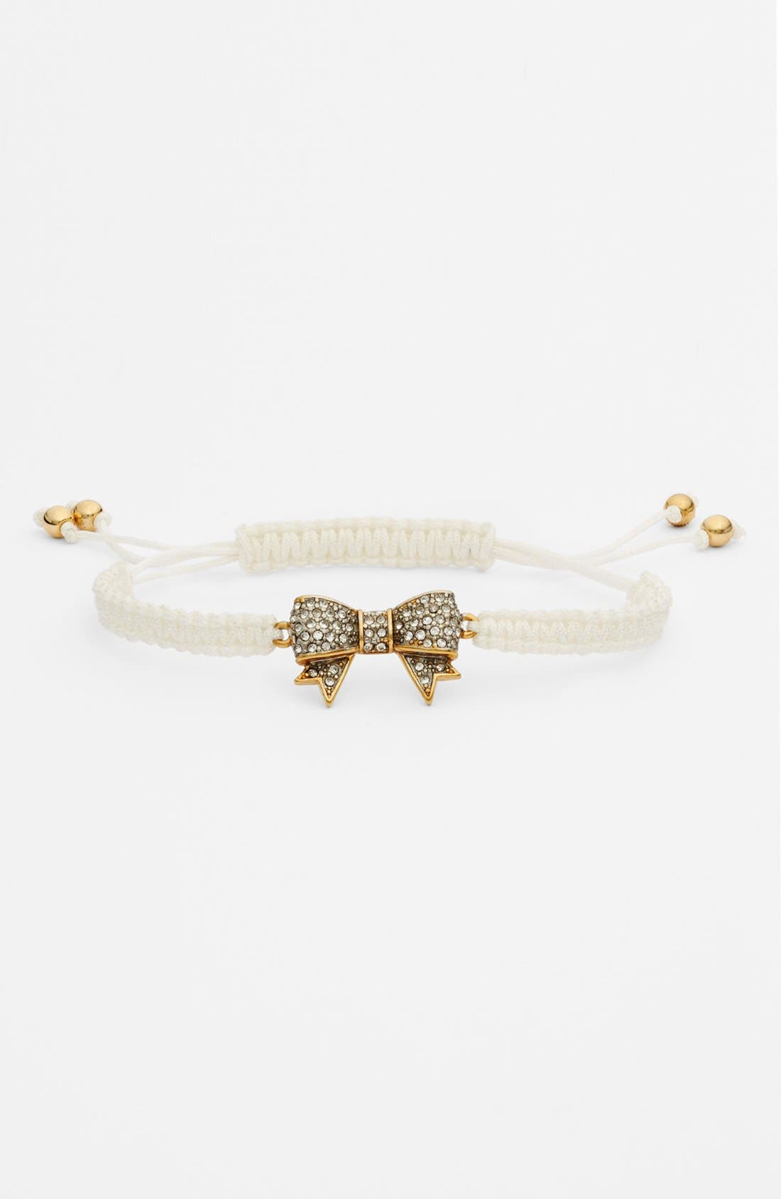 Main Image - Juicy Couture 'Jewelry Box Treasures' Pavé Bow Macramé Bracelet