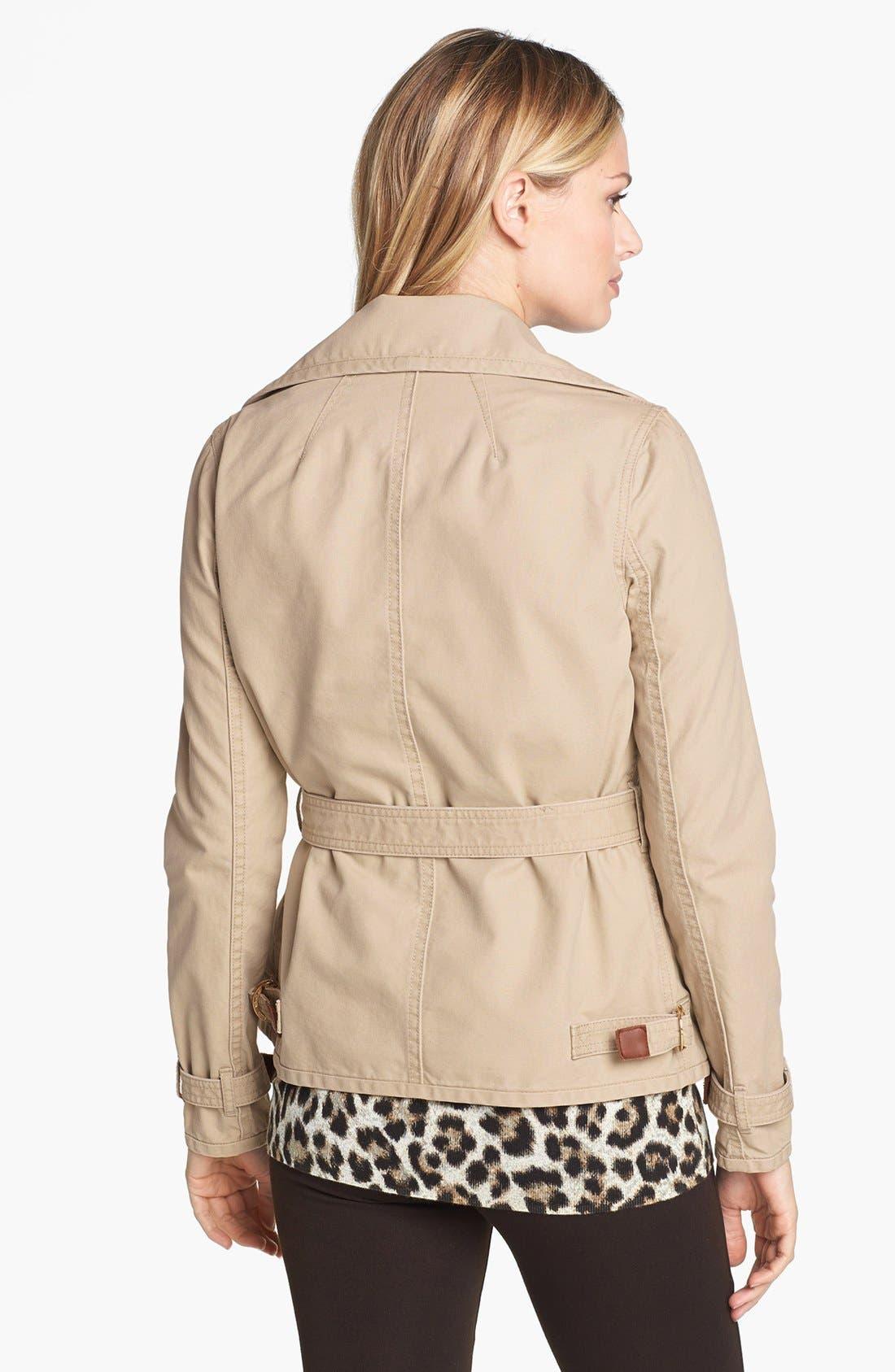 Alternate Image 2  - MICHAEL Michael Kors Four Pocket Belted Cotton Jacket