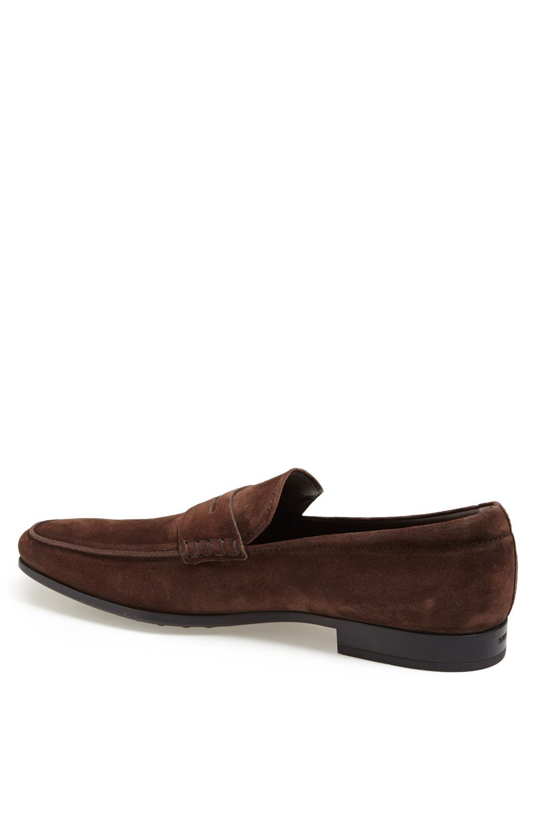 Alternate Image 2  - Tod's 'Gomma' Suede Penny Loafer