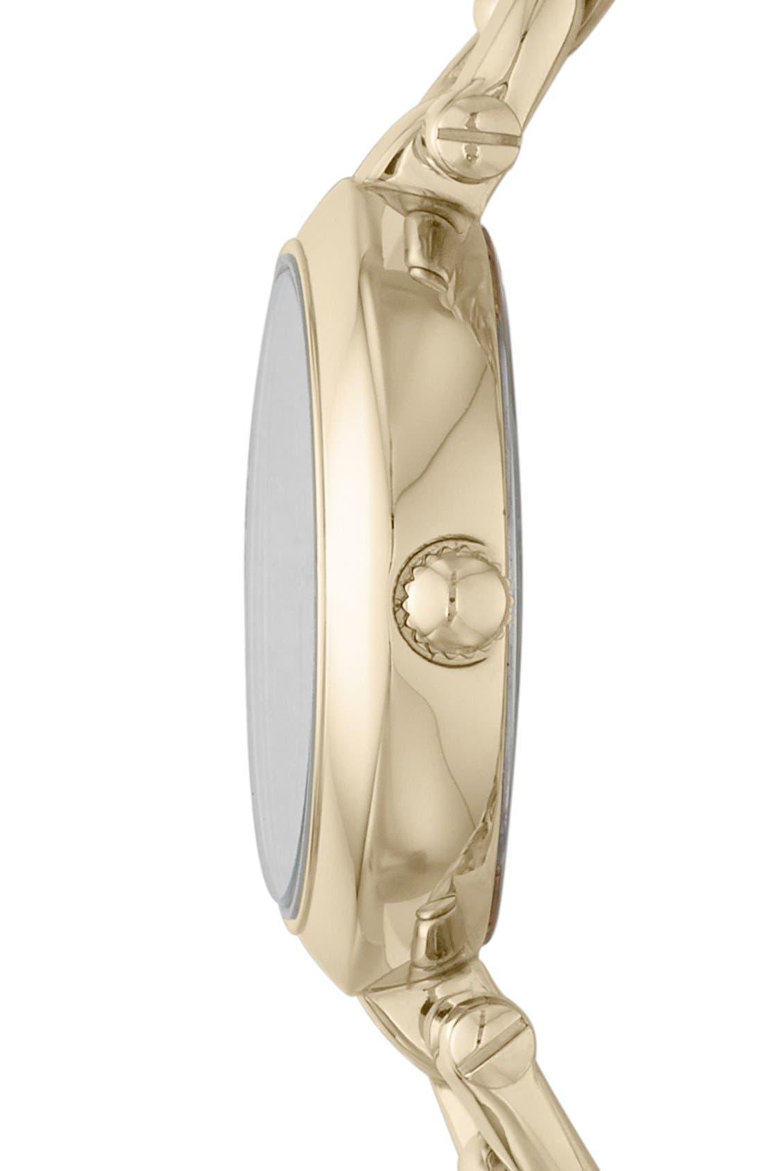 Alternate Image 2  - Fossil 'Olive' Chain Link Bracelet Watch, 28mm